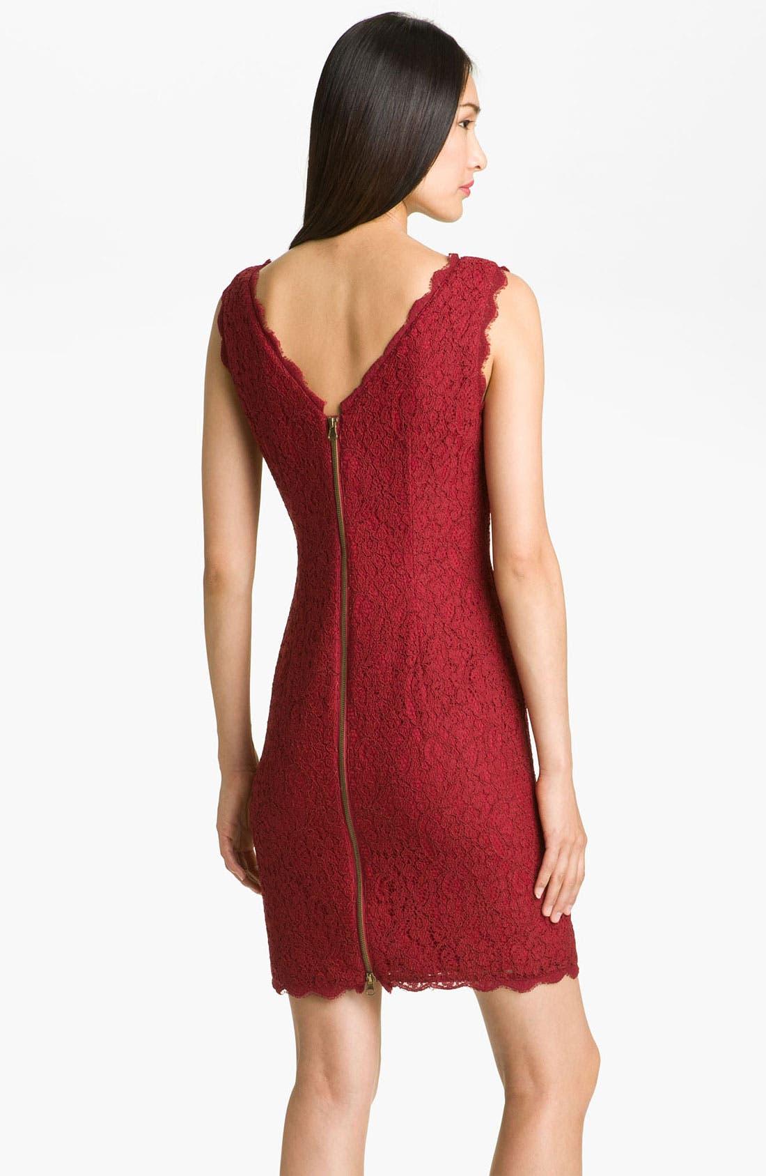 Boatneck Lace Sheath Dress,                             Alternate thumbnail 56, color,