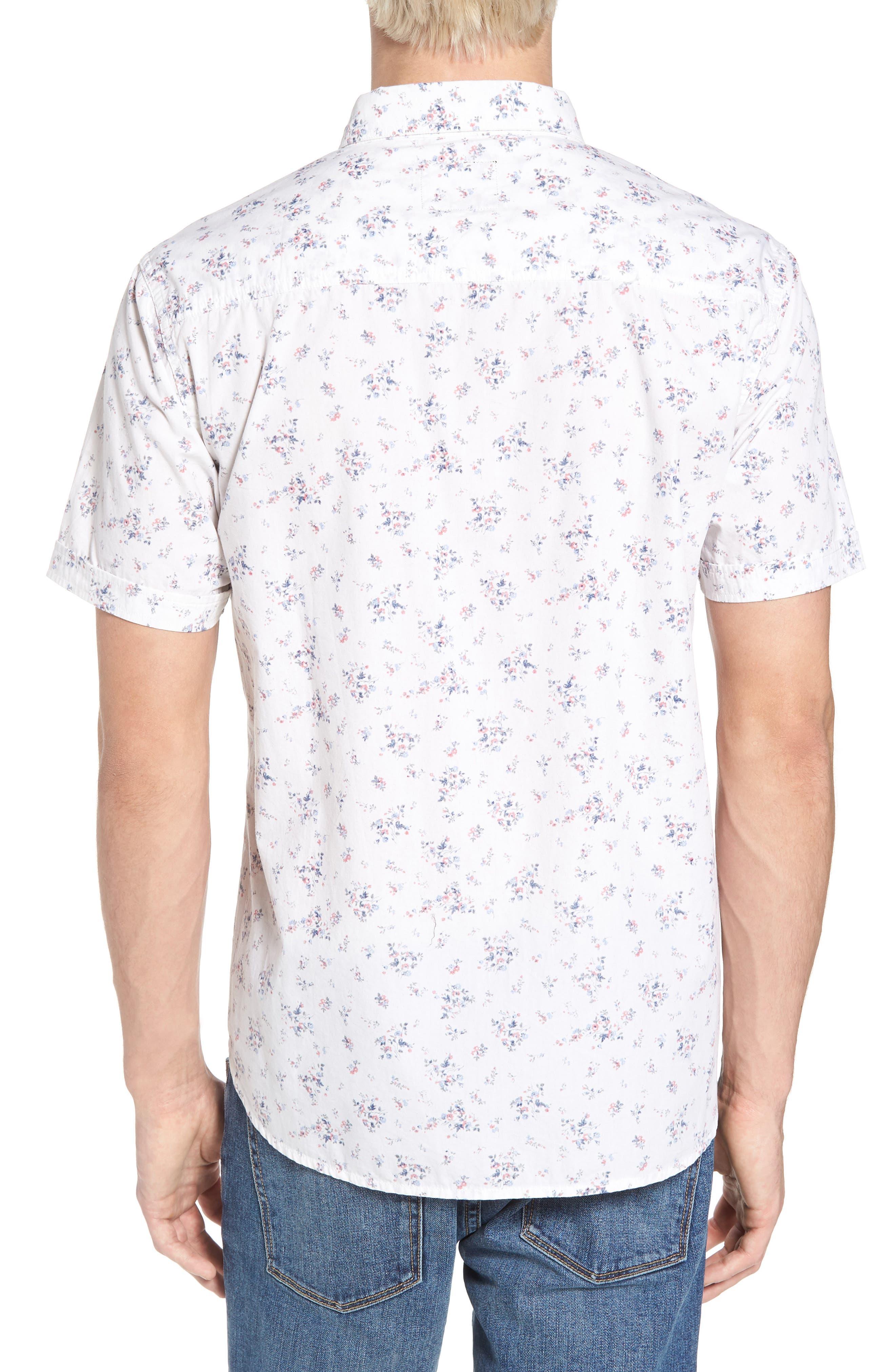 Carson Slim Fit Floral Print Sport Shirt,                             Alternate thumbnail 2, color,                             100