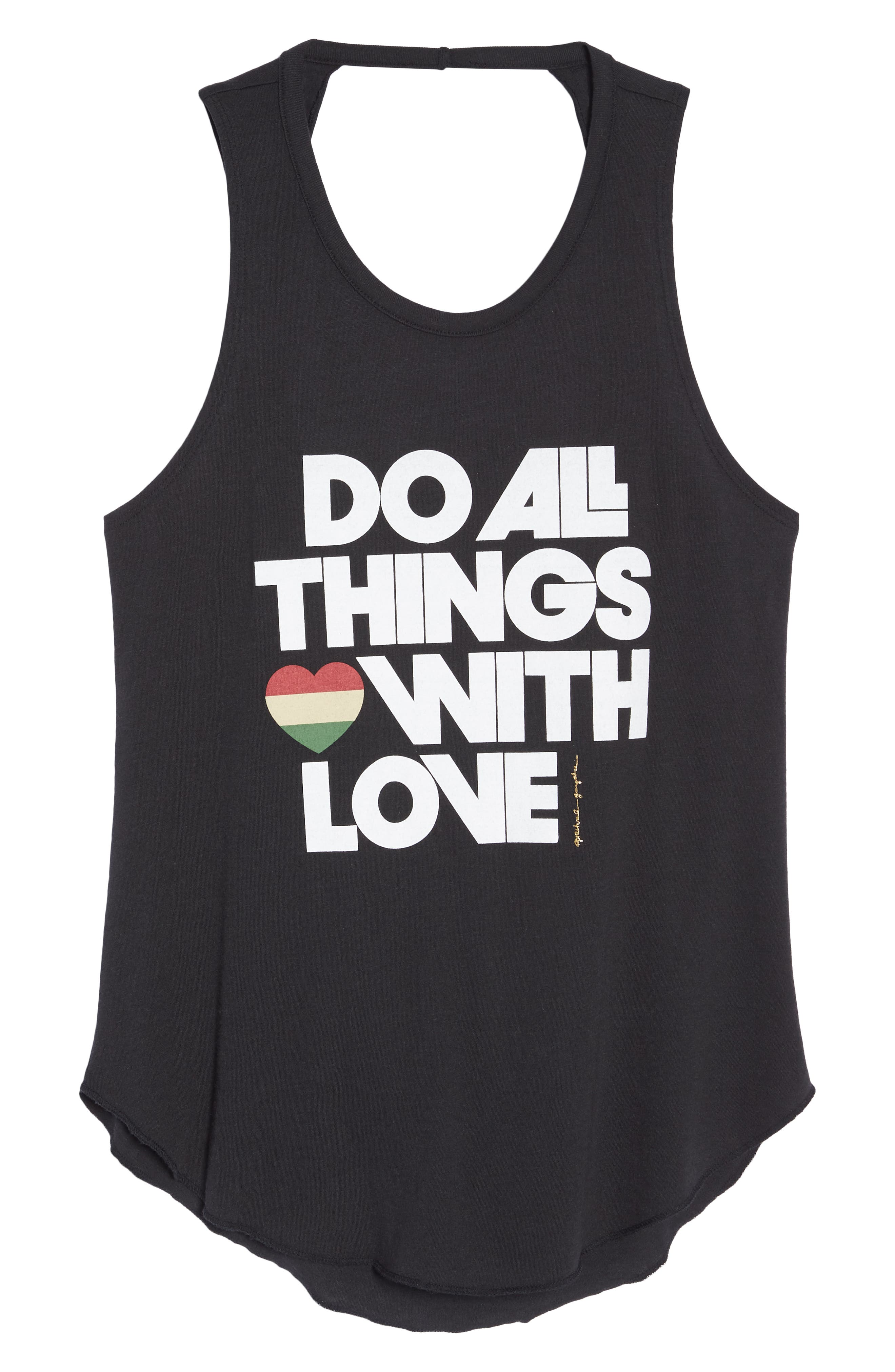 Do All Things with Love Open Back Tank,                             Alternate thumbnail 7, color,                             003