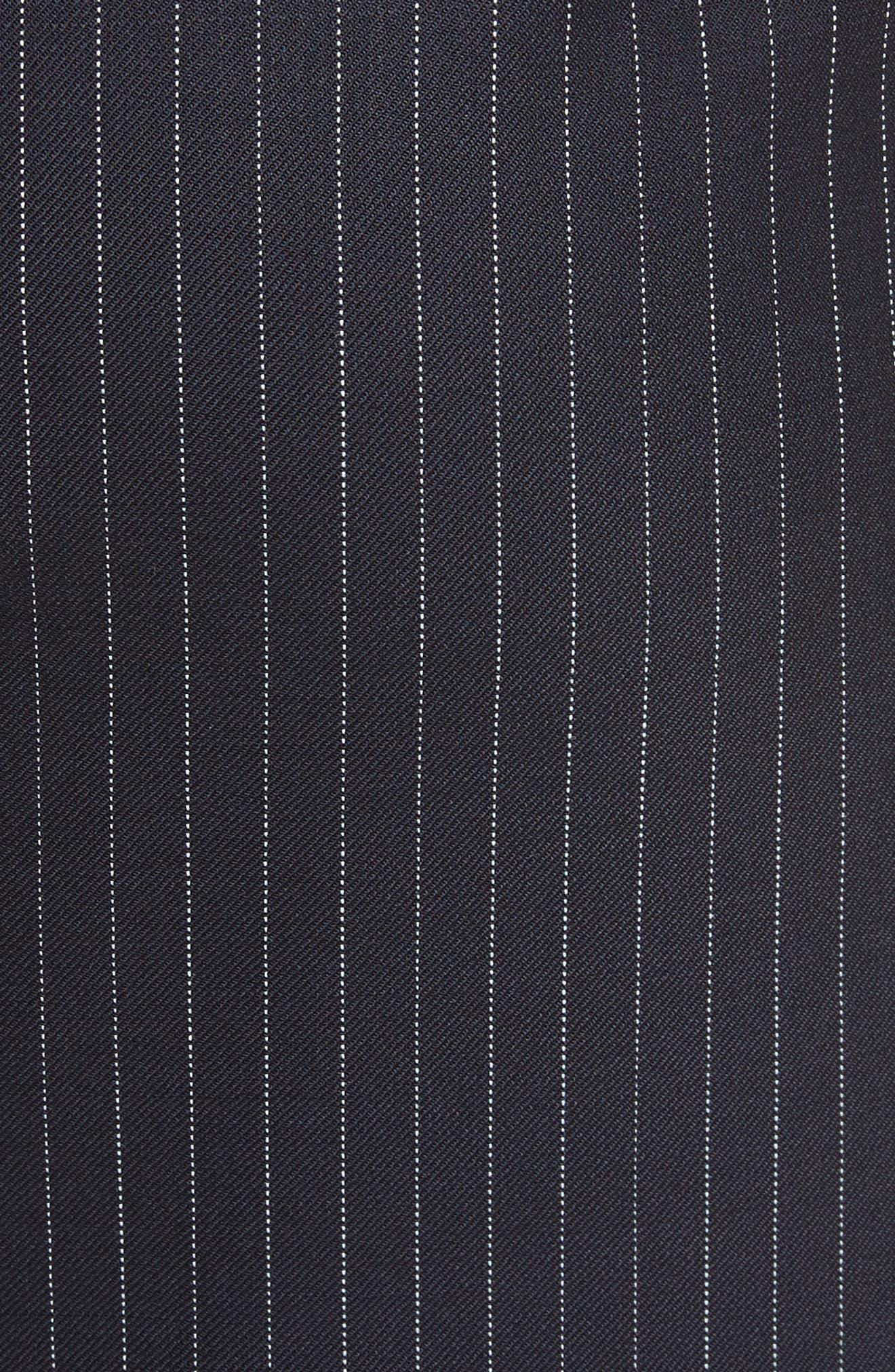 Abba Pinstripe Pencil Skirt,                             Alternate thumbnail 5, color,                             411