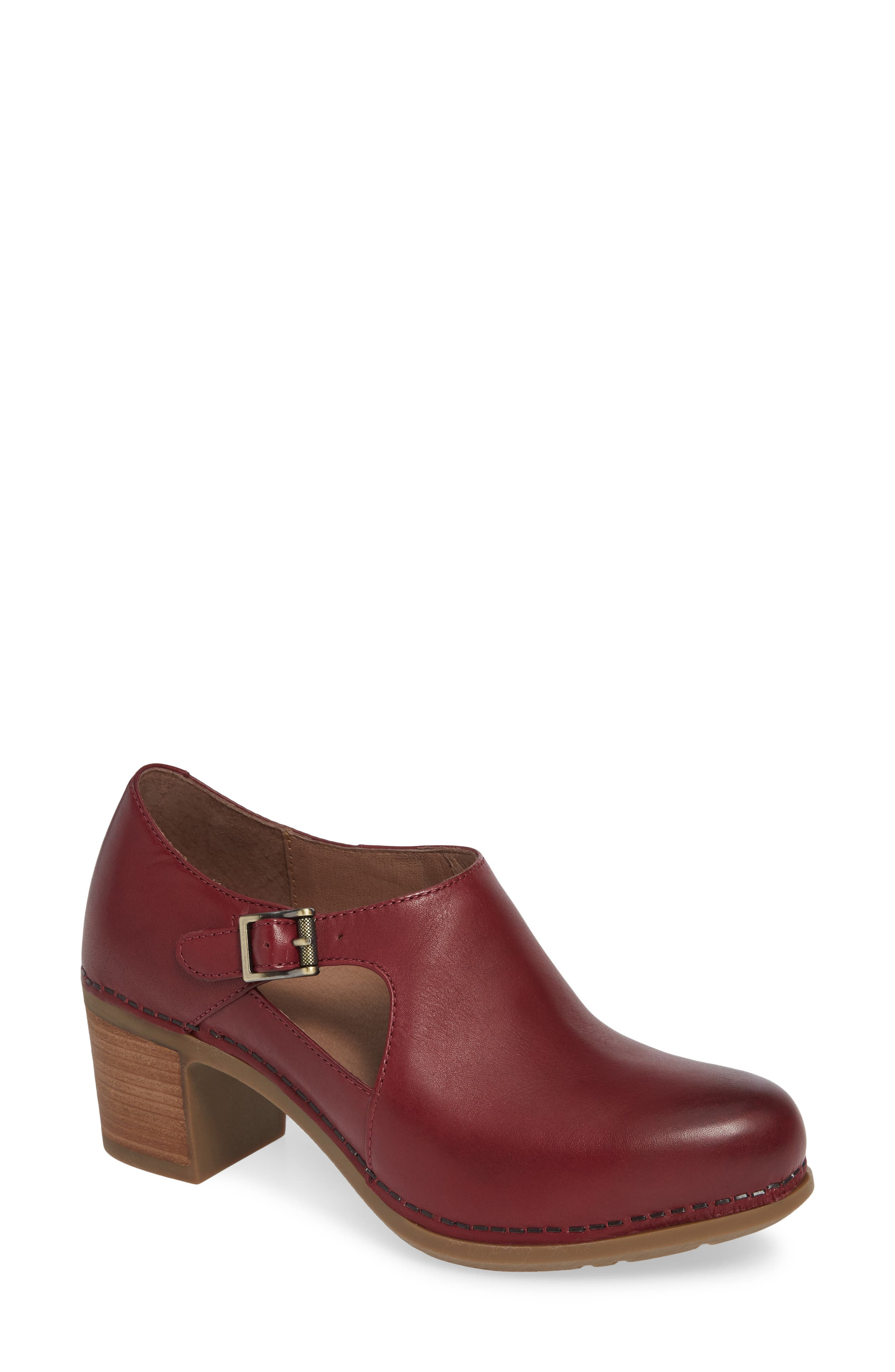 Hollie Bootie in Wine Burnished Leather