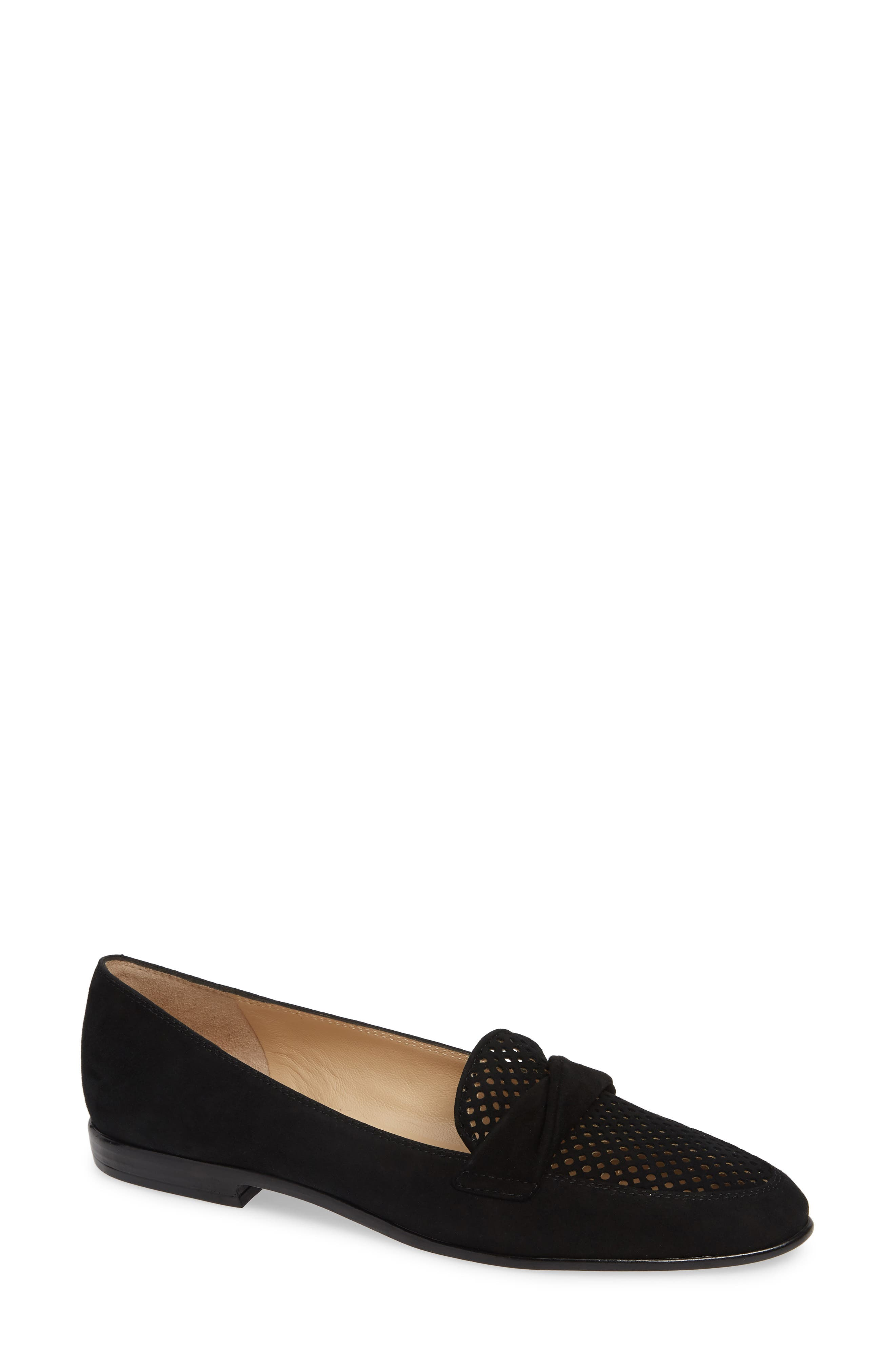 AMALFI BY RANGONI,                             Osimo X Perforated Loafer,                             Main thumbnail 1, color,                             BLACK SUEDE