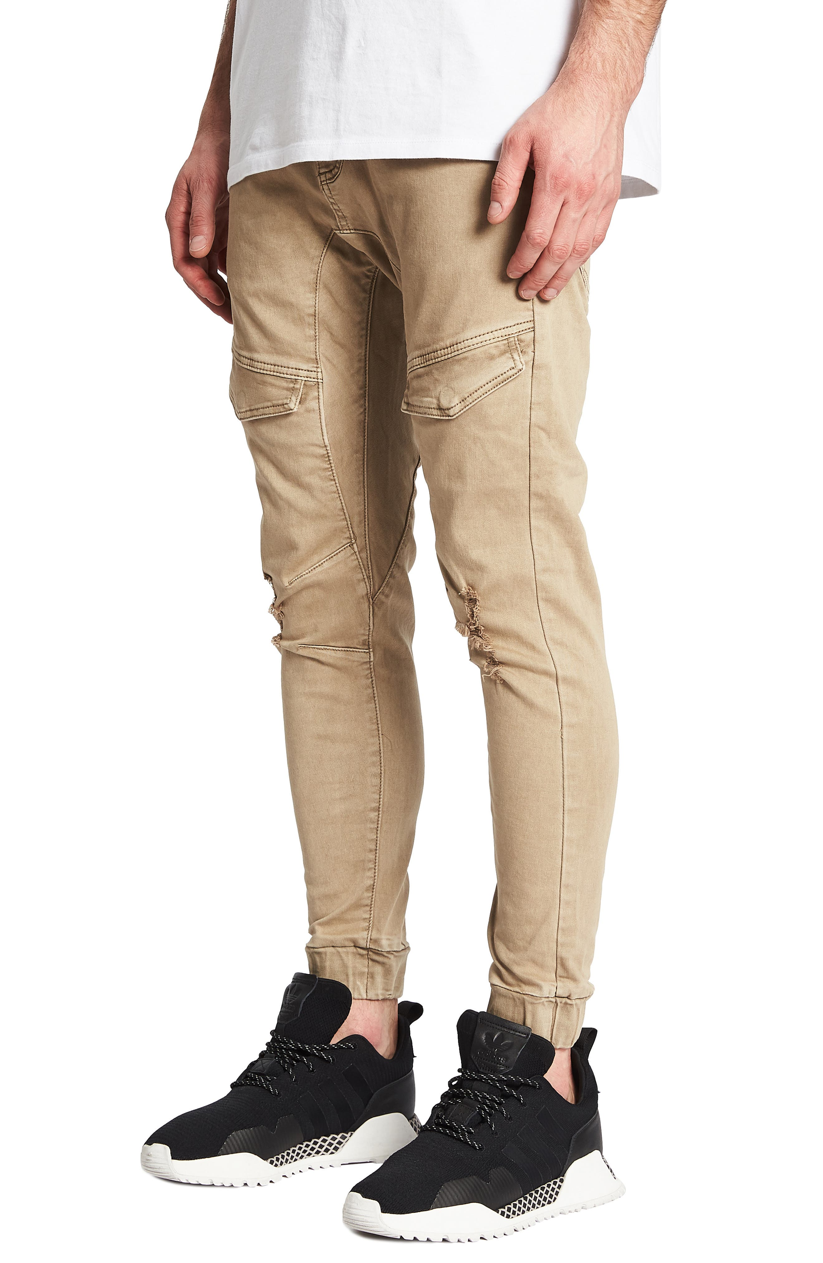 Flight Skinny Denim Jogger Pants,                             Alternate thumbnail 20, color,