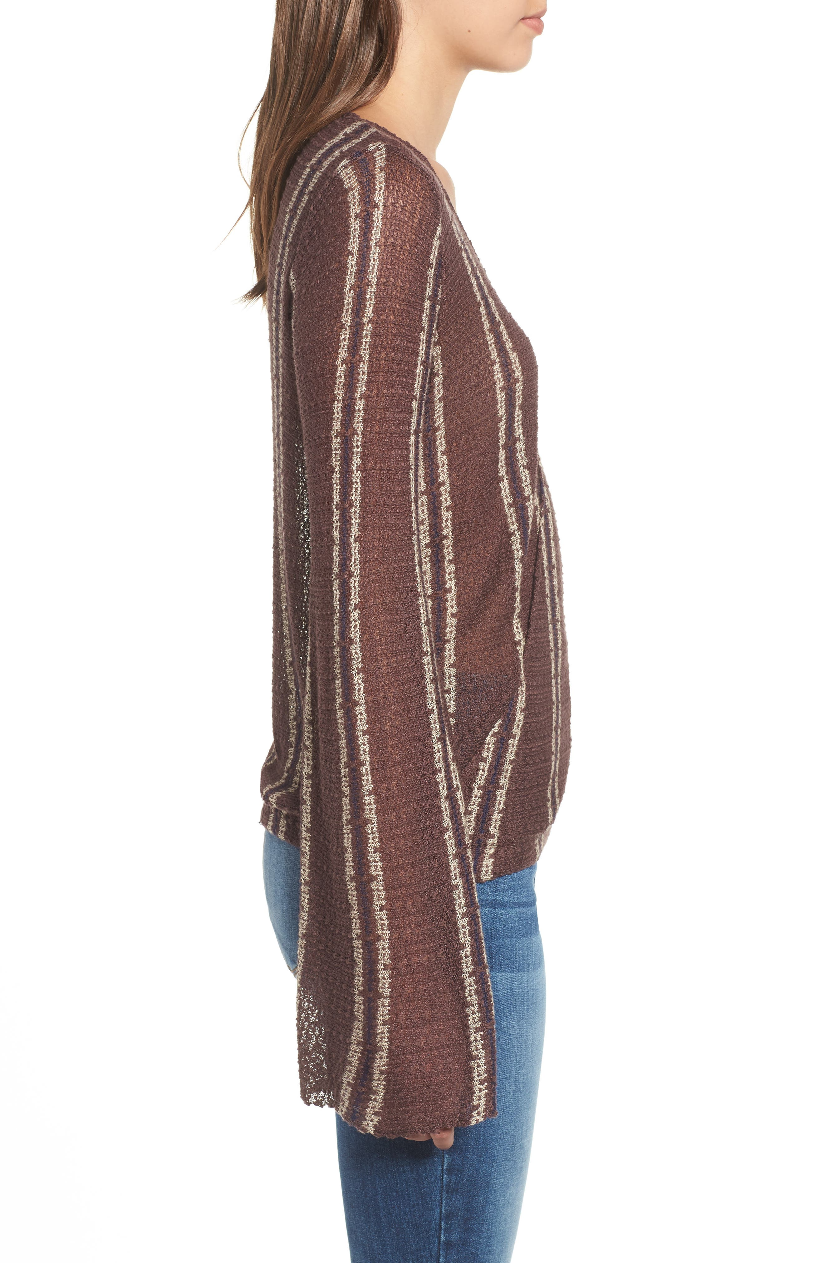 Sims Stripe Sweater,                             Alternate thumbnail 7, color,