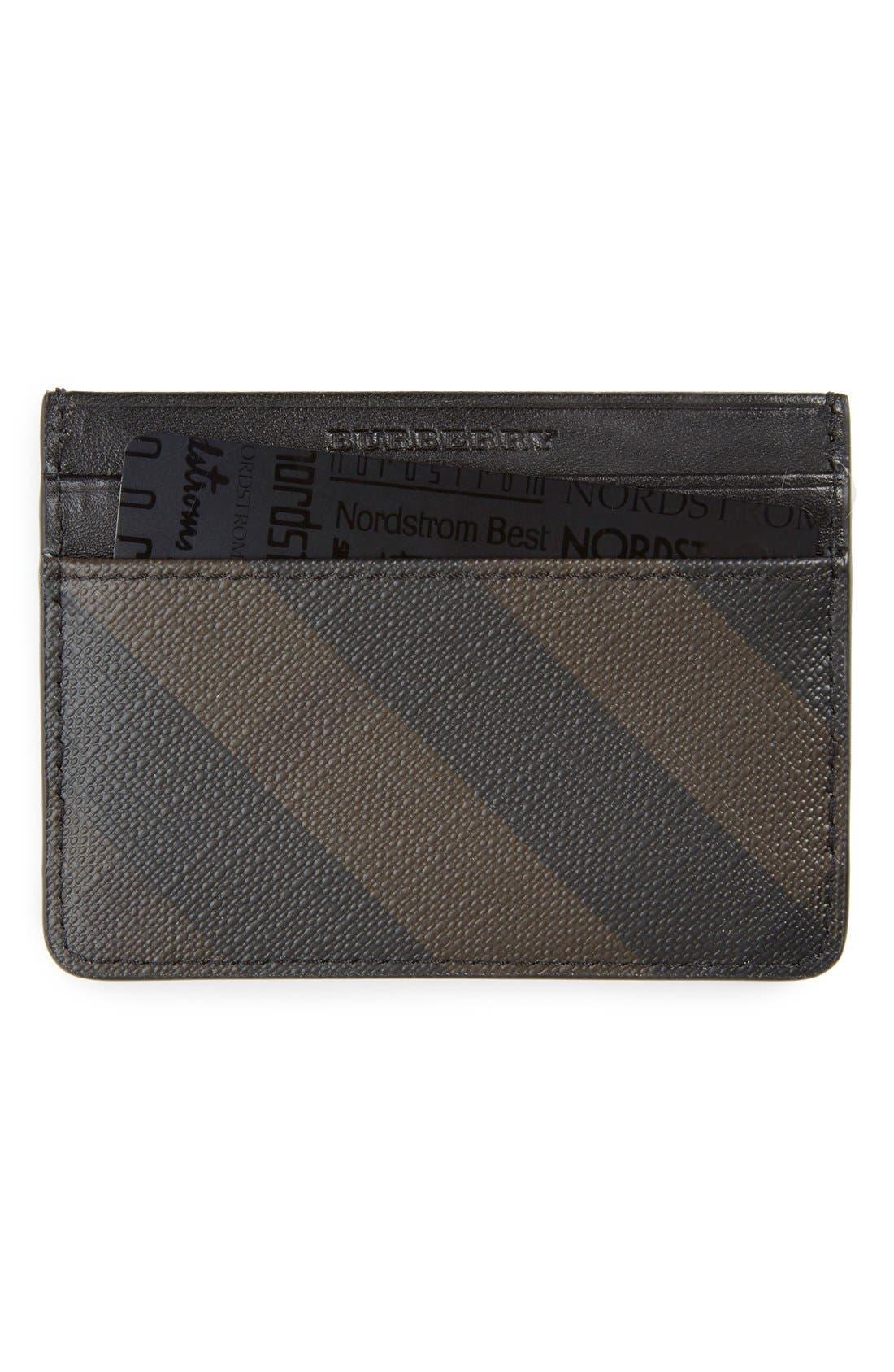 'New London' Check Card Case,                             Main thumbnail 1, color,                             207