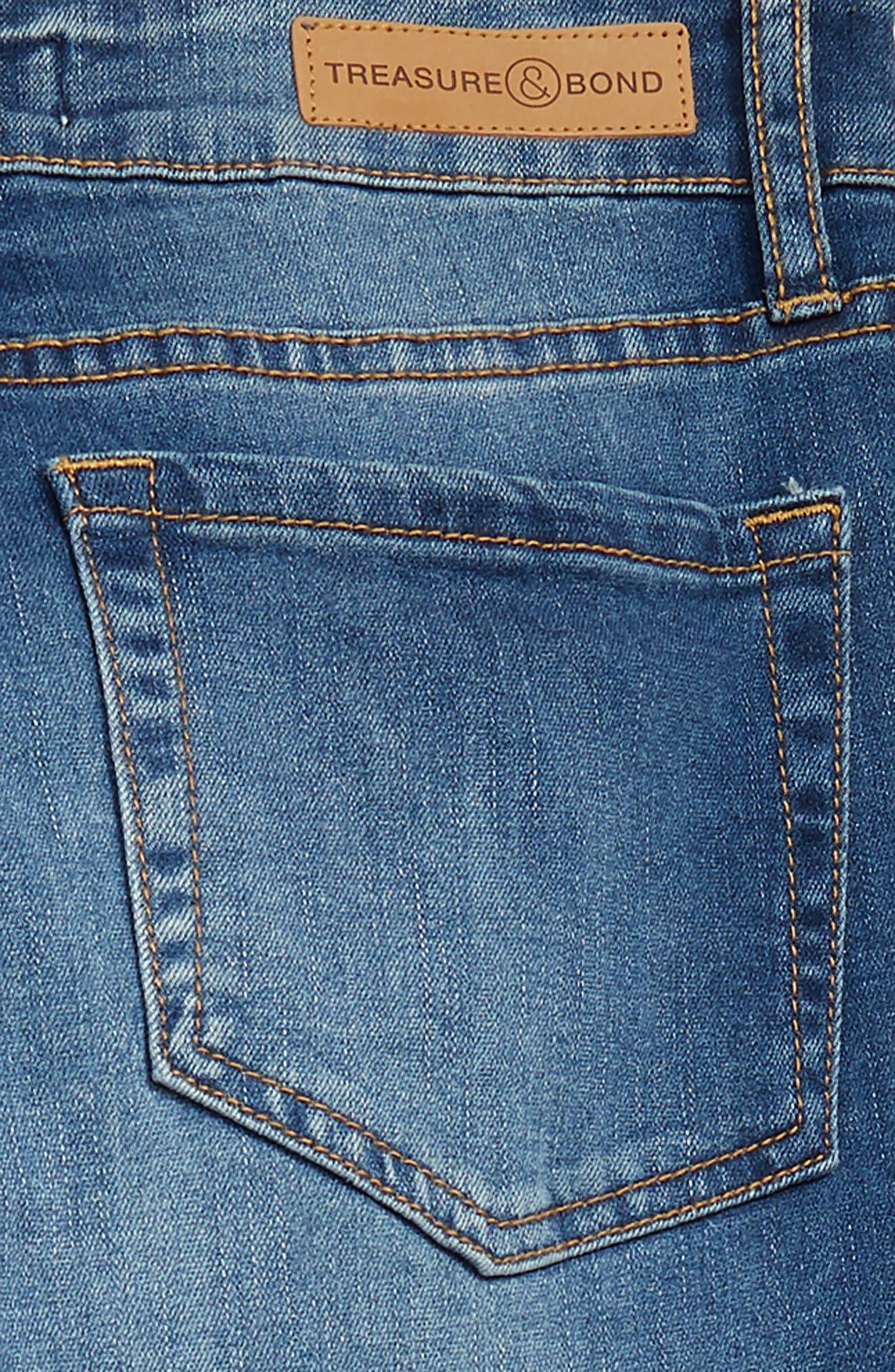 Sparkle Distressed Girlfriend Jeans,                             Alternate thumbnail 2, color,                             FAIRY WASH