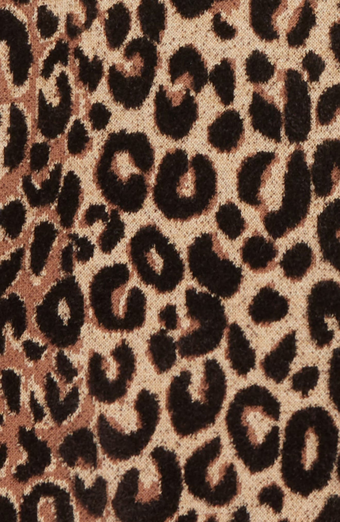 Textured Leopard Sweater,                             Alternate thumbnail 2, color,                             NATURAL MULTI