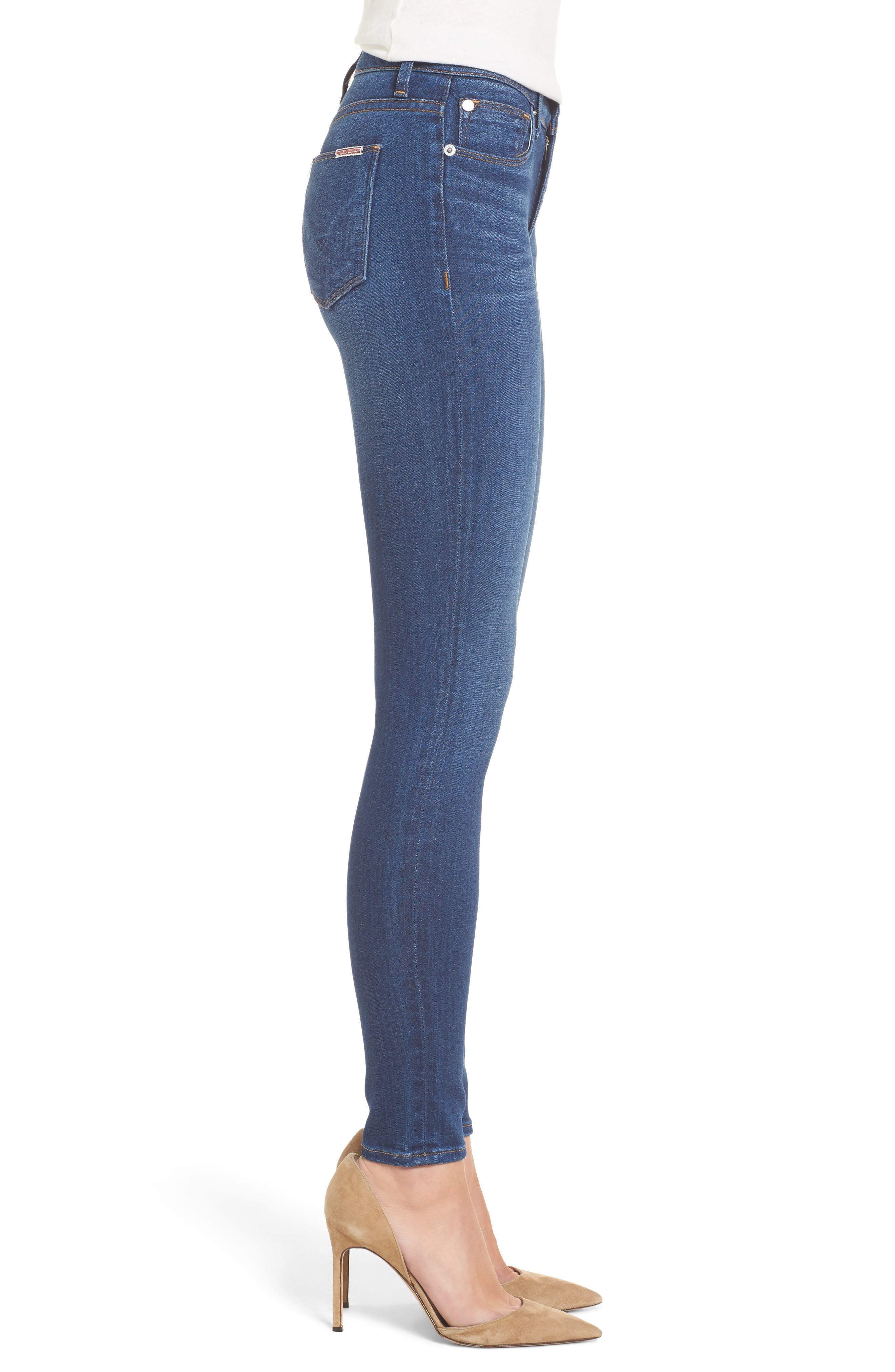 Hudson Nico Mid Rise Super Skinny Jeans,                             Alternate thumbnail 3, color,                             420