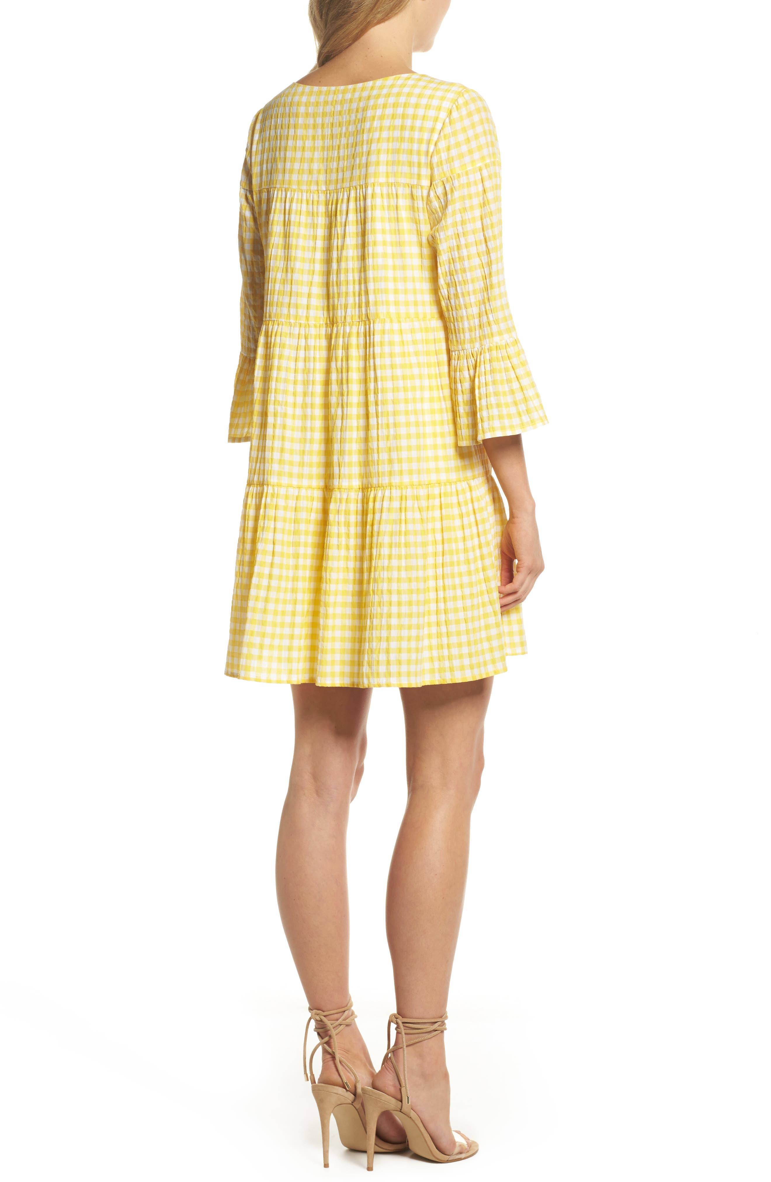 Gingham Swing Dress,                             Alternate thumbnail 2, color,                             740