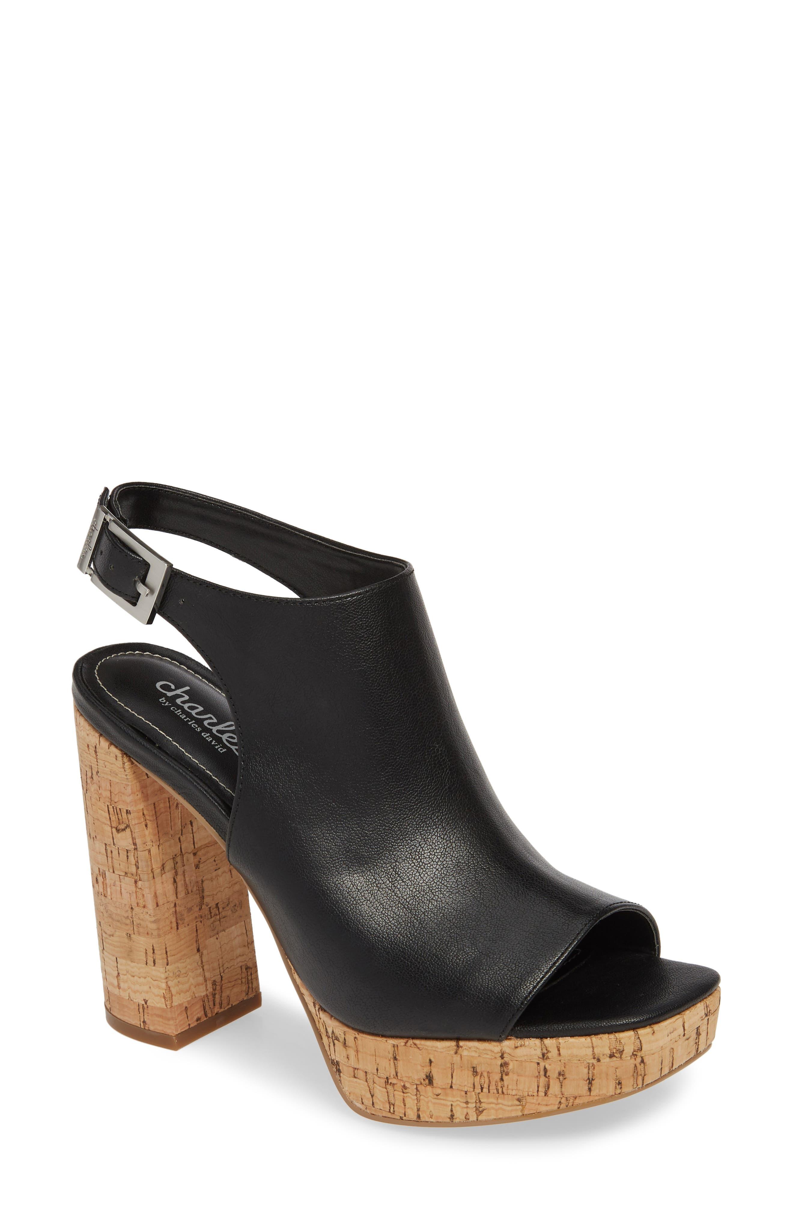 Charles By Charles David Imani Platform Sandal, Black
