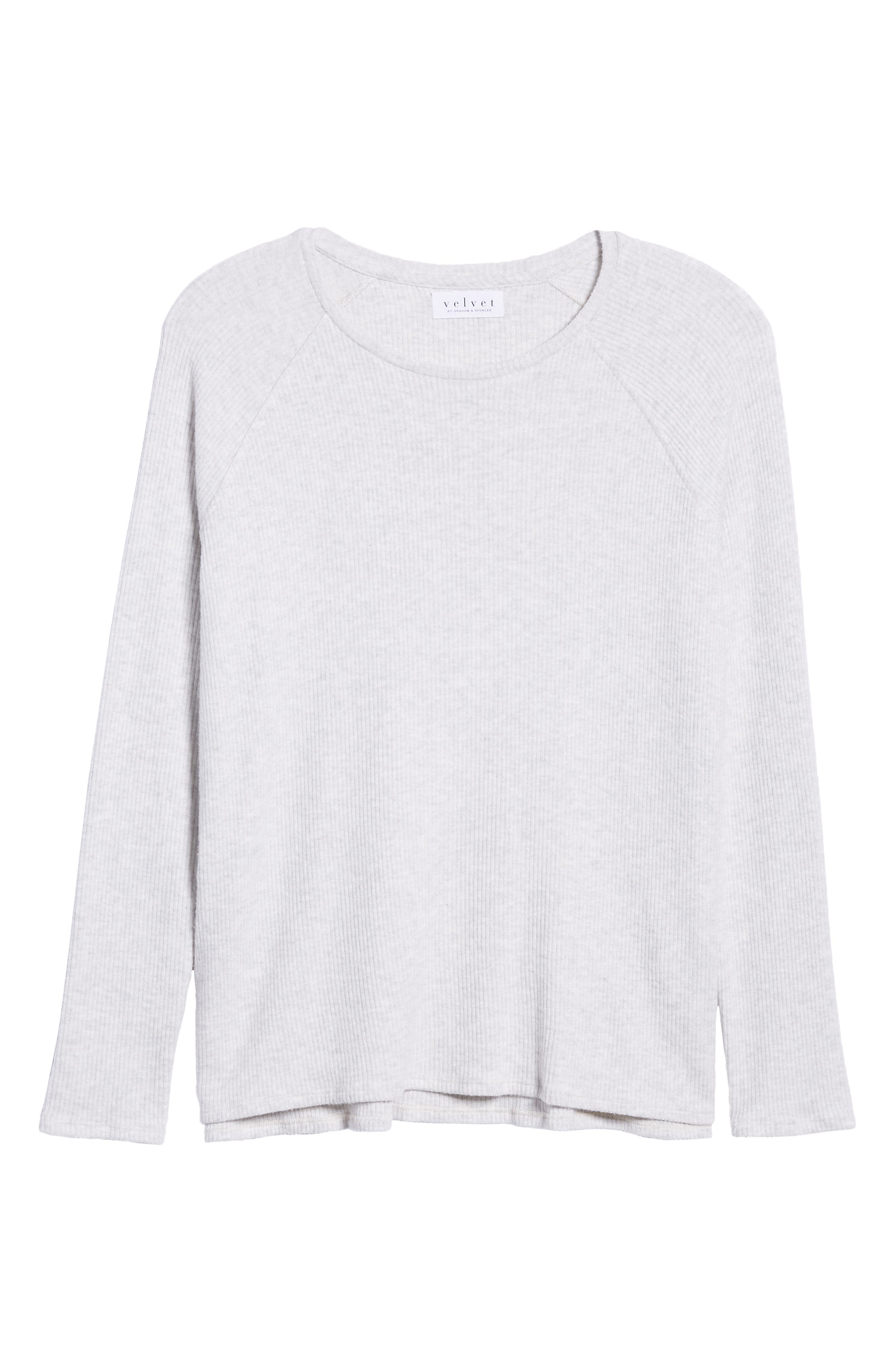 Cozy Rib Long Sleeve Top,                             Alternate thumbnail 6, color,                             900