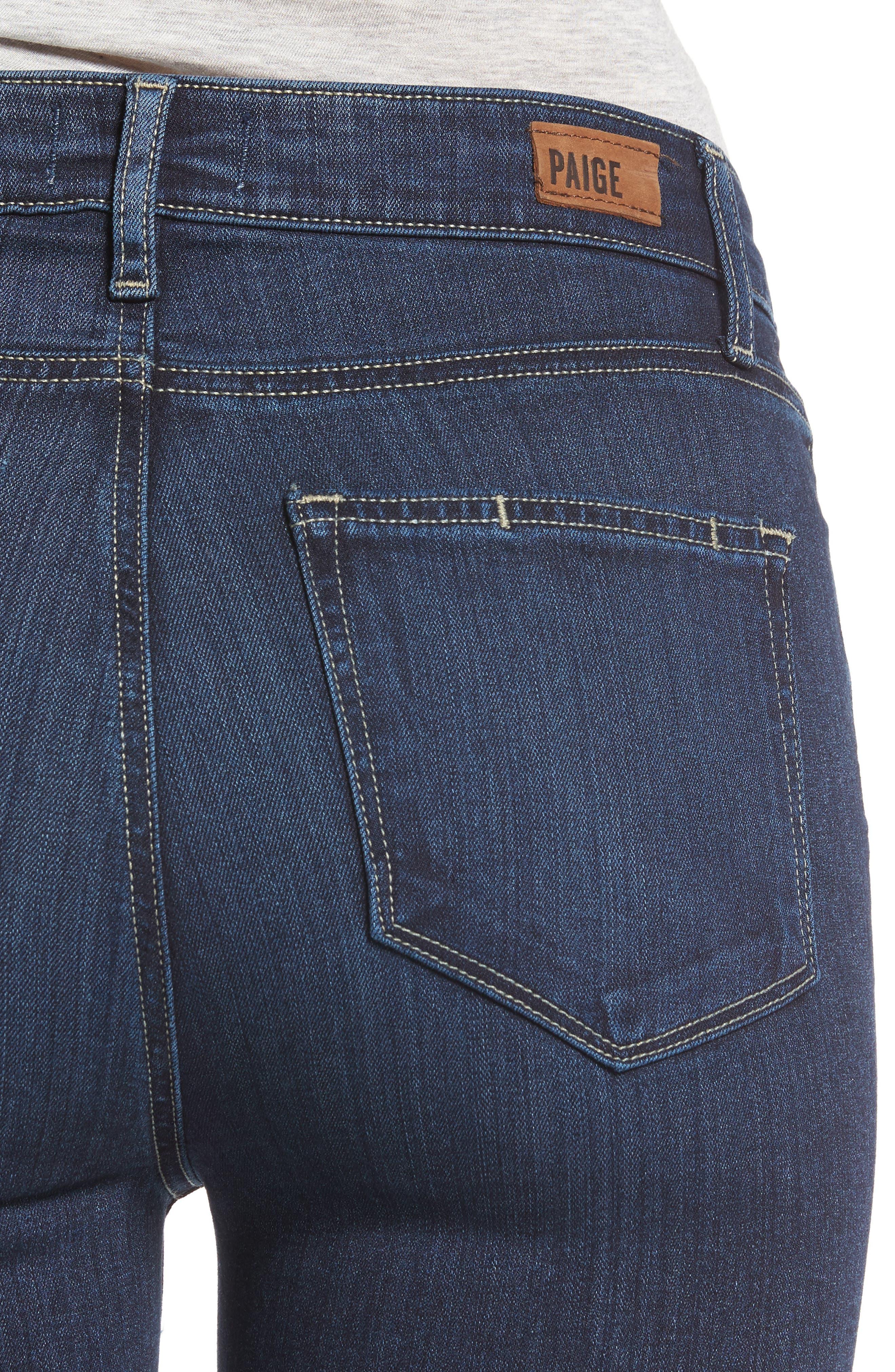 Transcend - Hoxton High Waist Ankle Skinny Jeans,                             Alternate thumbnail 4, color,                             400