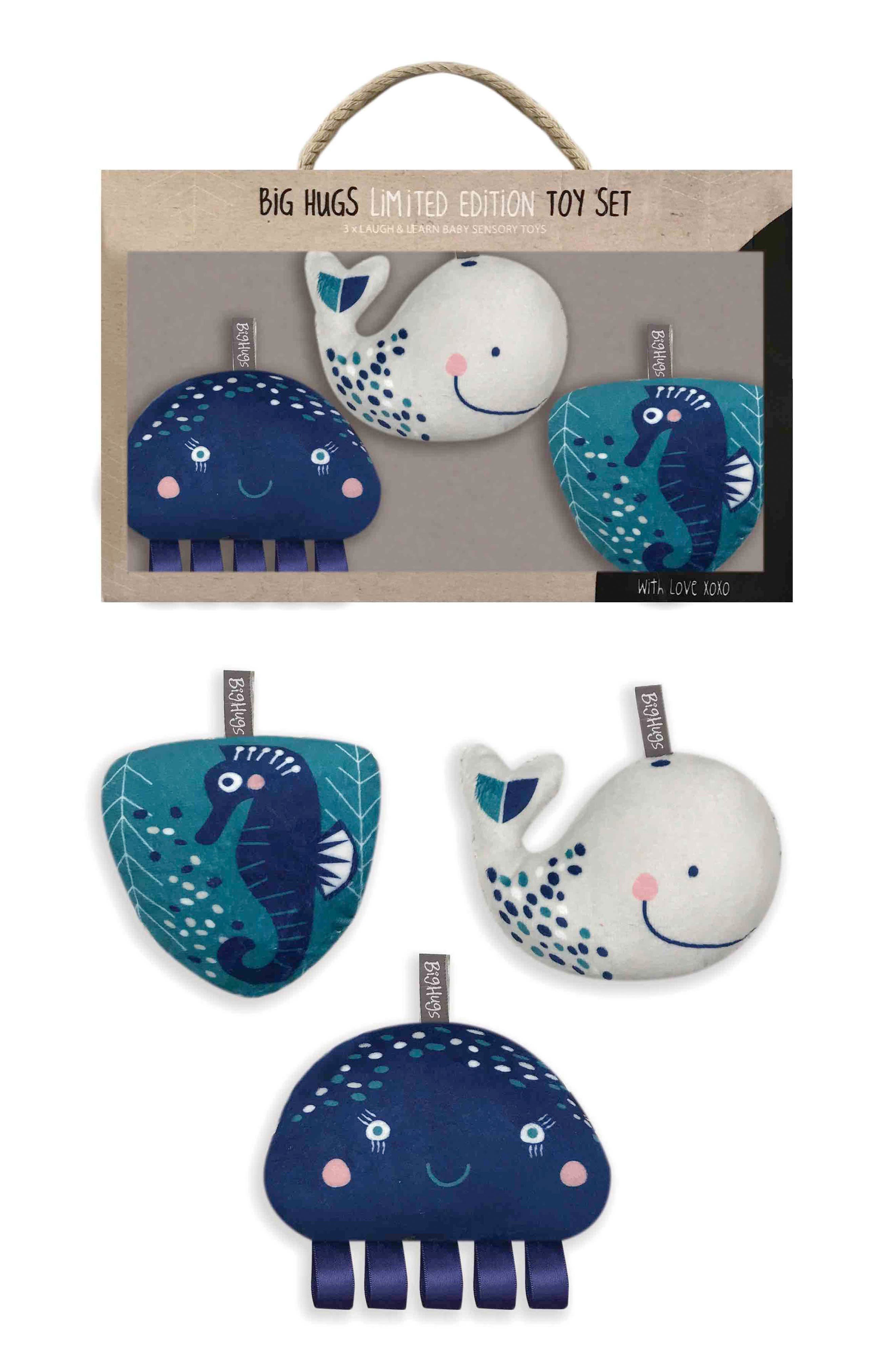 Infant Ob Designs Whale Of A Time Activity Plush Toy Set