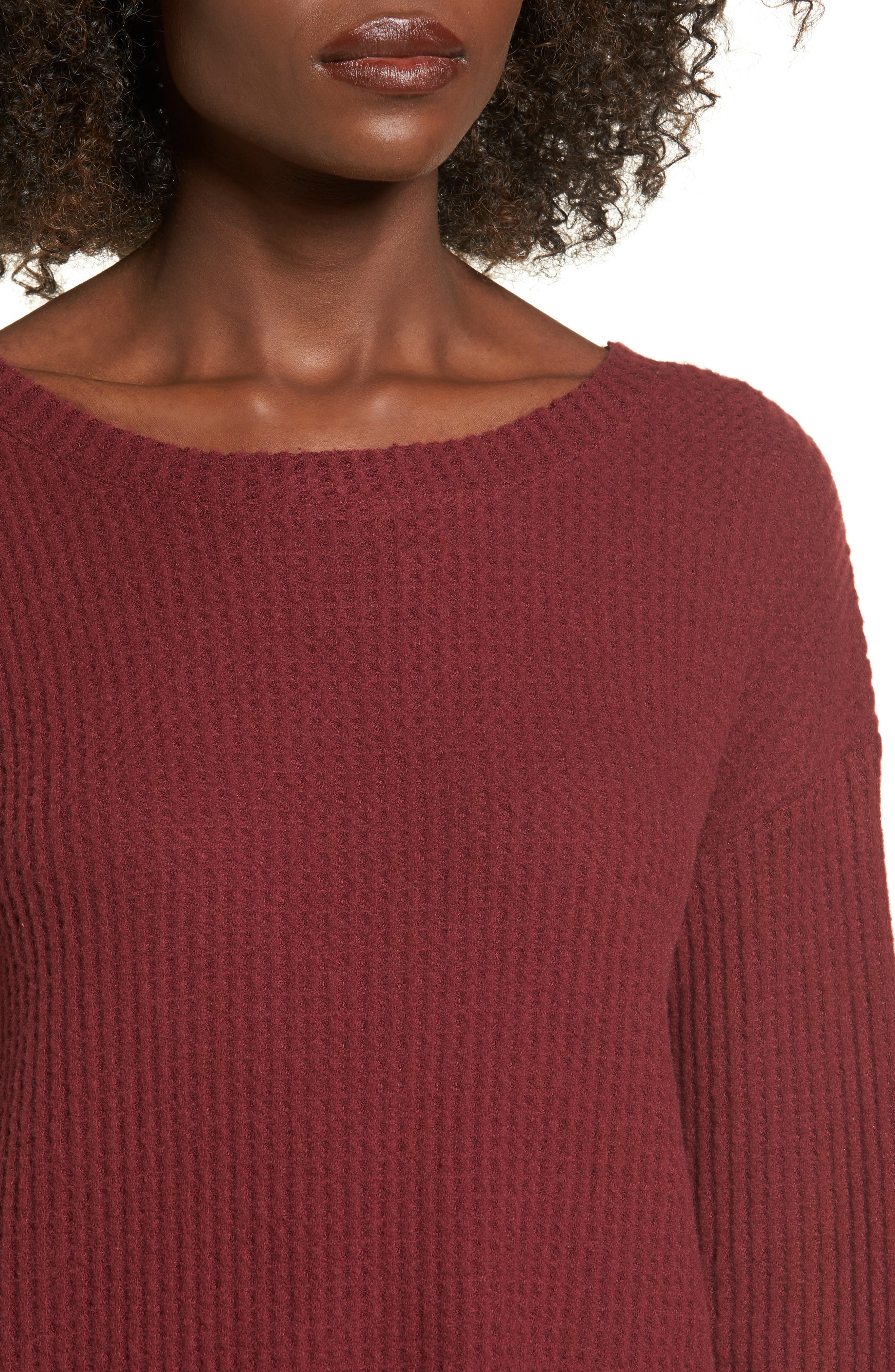 Waffle Knit Top,                             Alternate thumbnail 16, color,