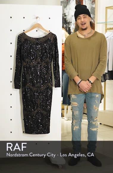 Emery Sequin Sheath Dress, sales video thumbnail