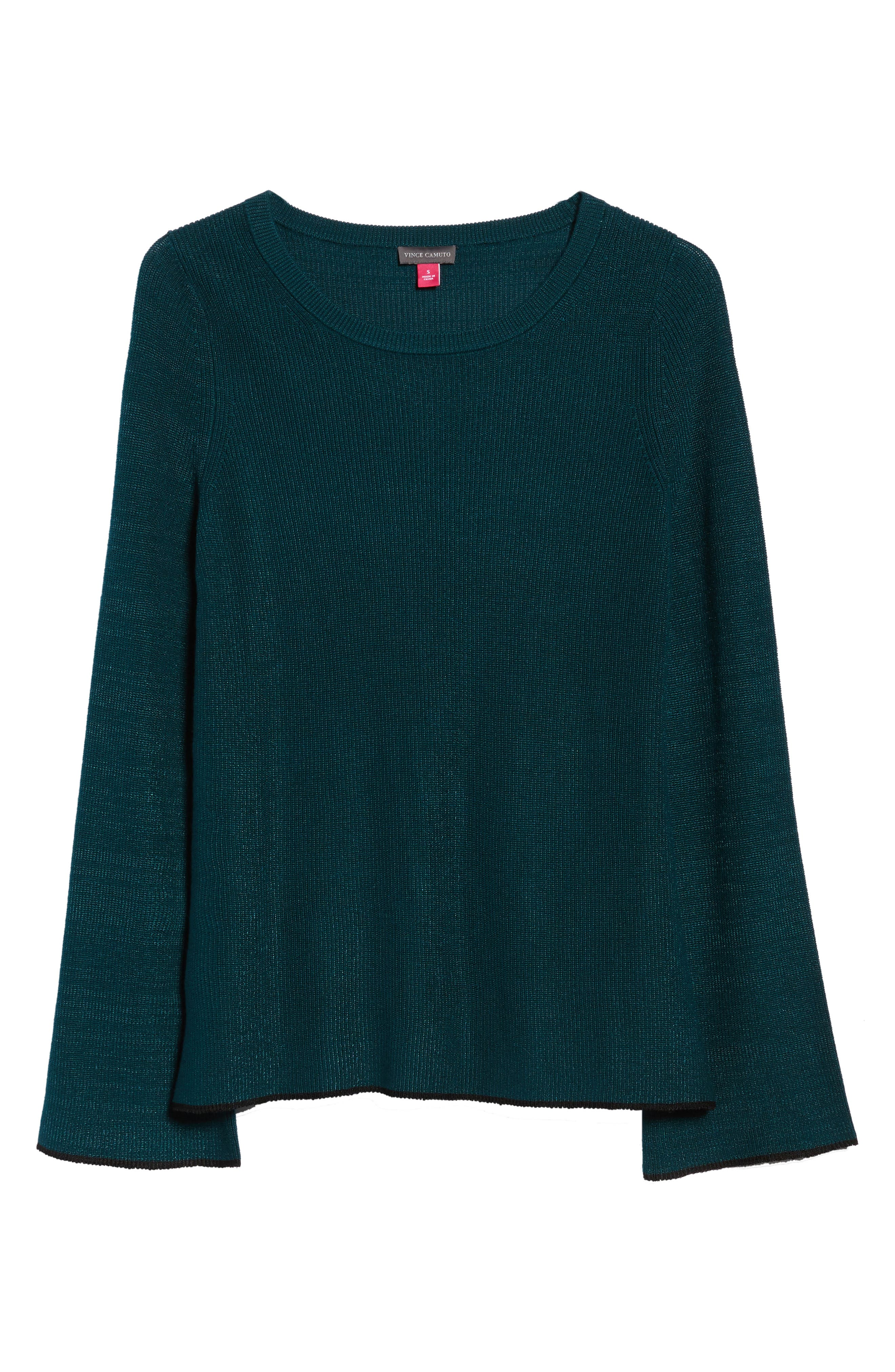 Tipped Bell Sleeve Sweater,                             Alternate thumbnail 40, color,