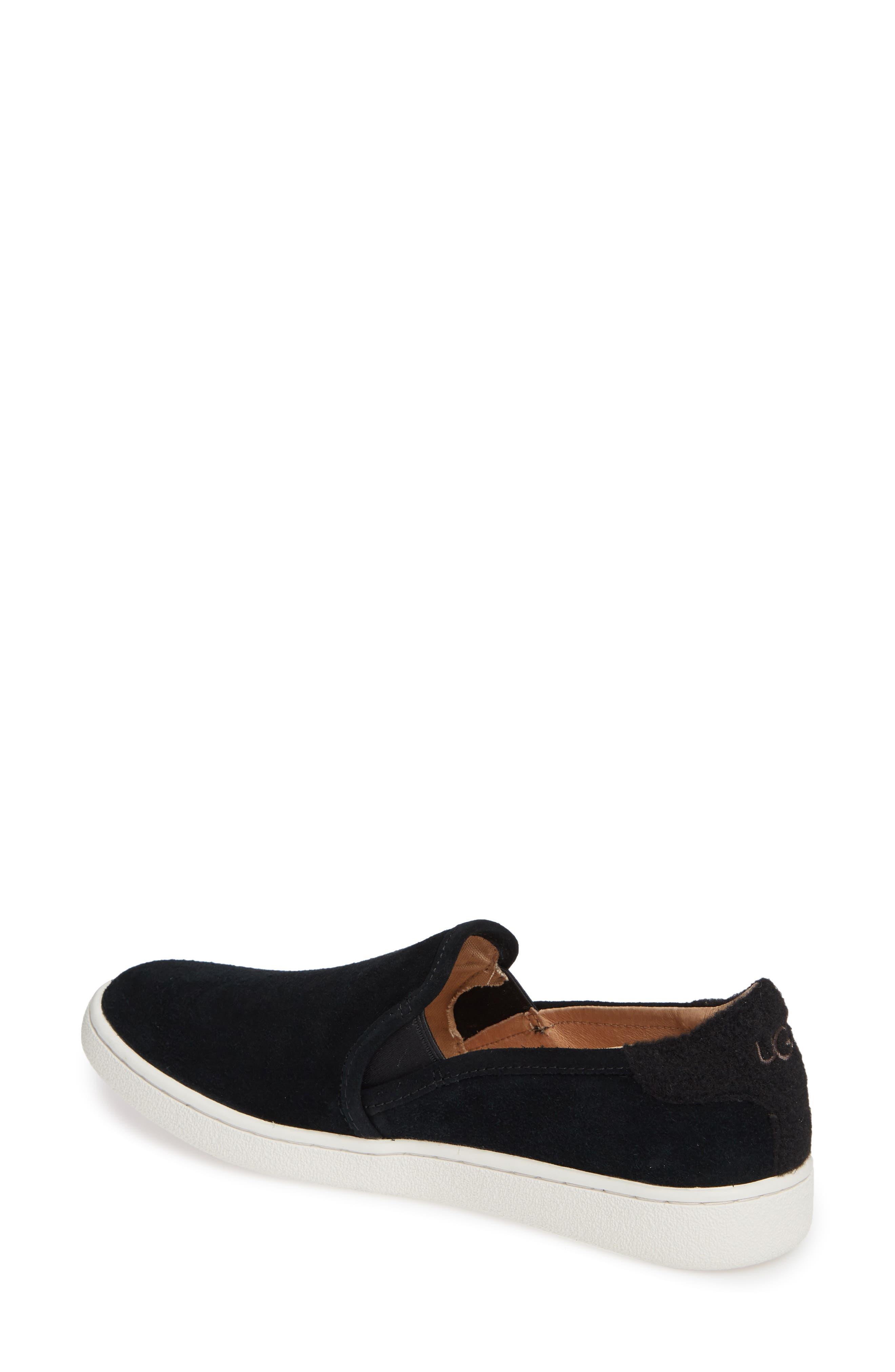 Cas Slip-On Sneaker,                             Alternate thumbnail 2, color,                             BLACK