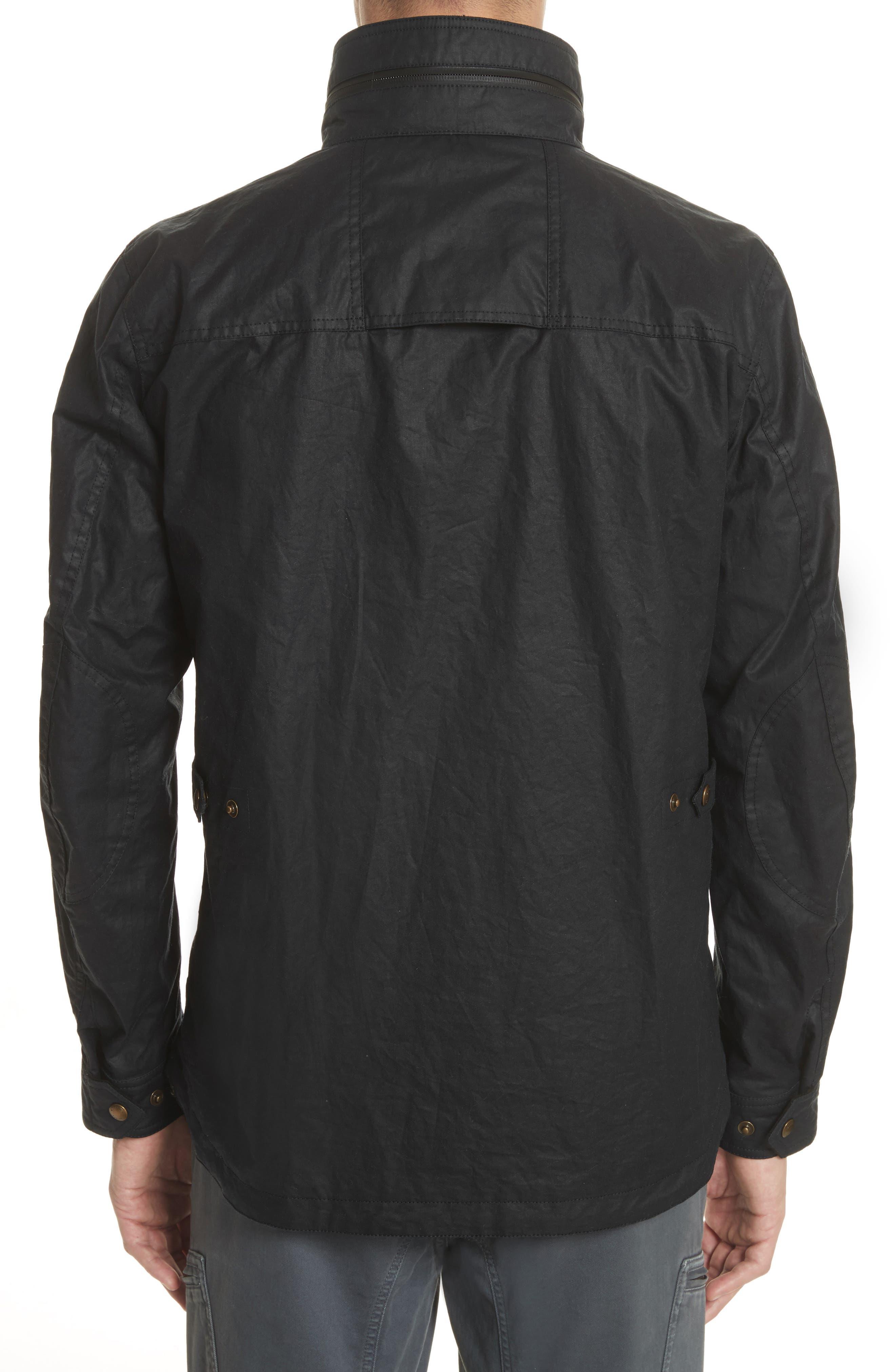 Citymaster 2 Waxed Cotton Moto Jacket,                             Alternate thumbnail 2, color,                             001