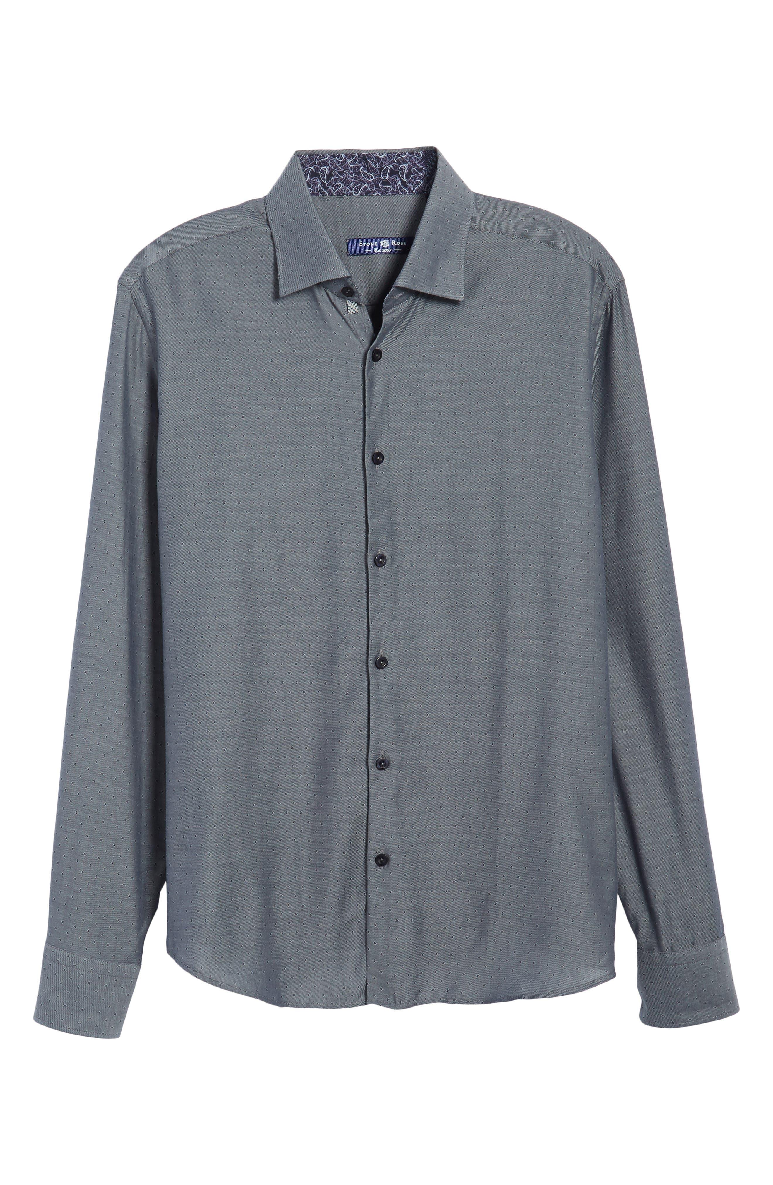 Slim Fit Diamond Twill Sport Shirt,                             Alternate thumbnail 6, color,                             020