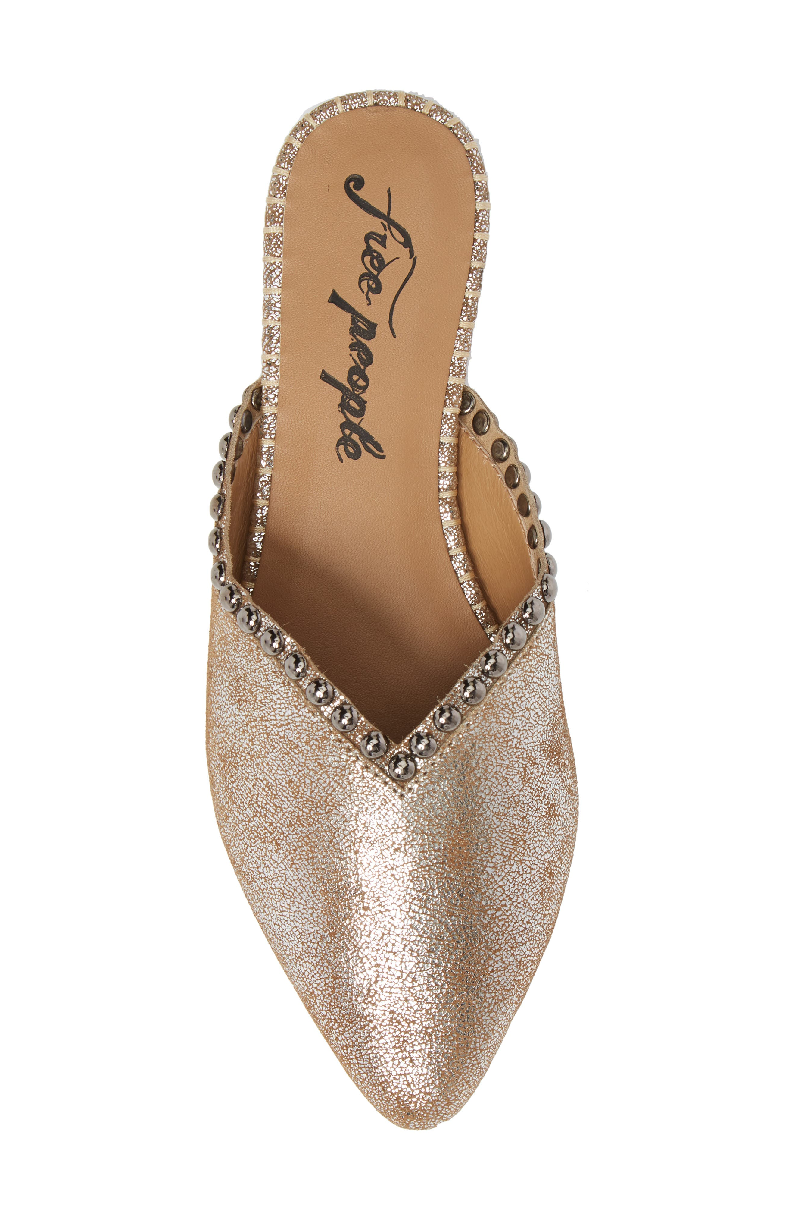 Newport Studded Mule,                             Alternate thumbnail 5, color,                             SILVER