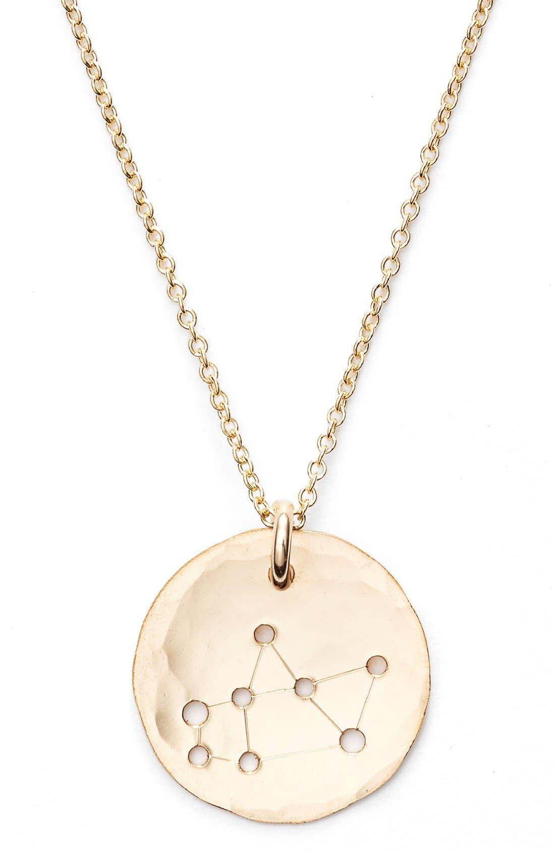 Ija 'Small Zodiac' 14k-Gold Fill Necklace,                             Alternate thumbnail 33, color,