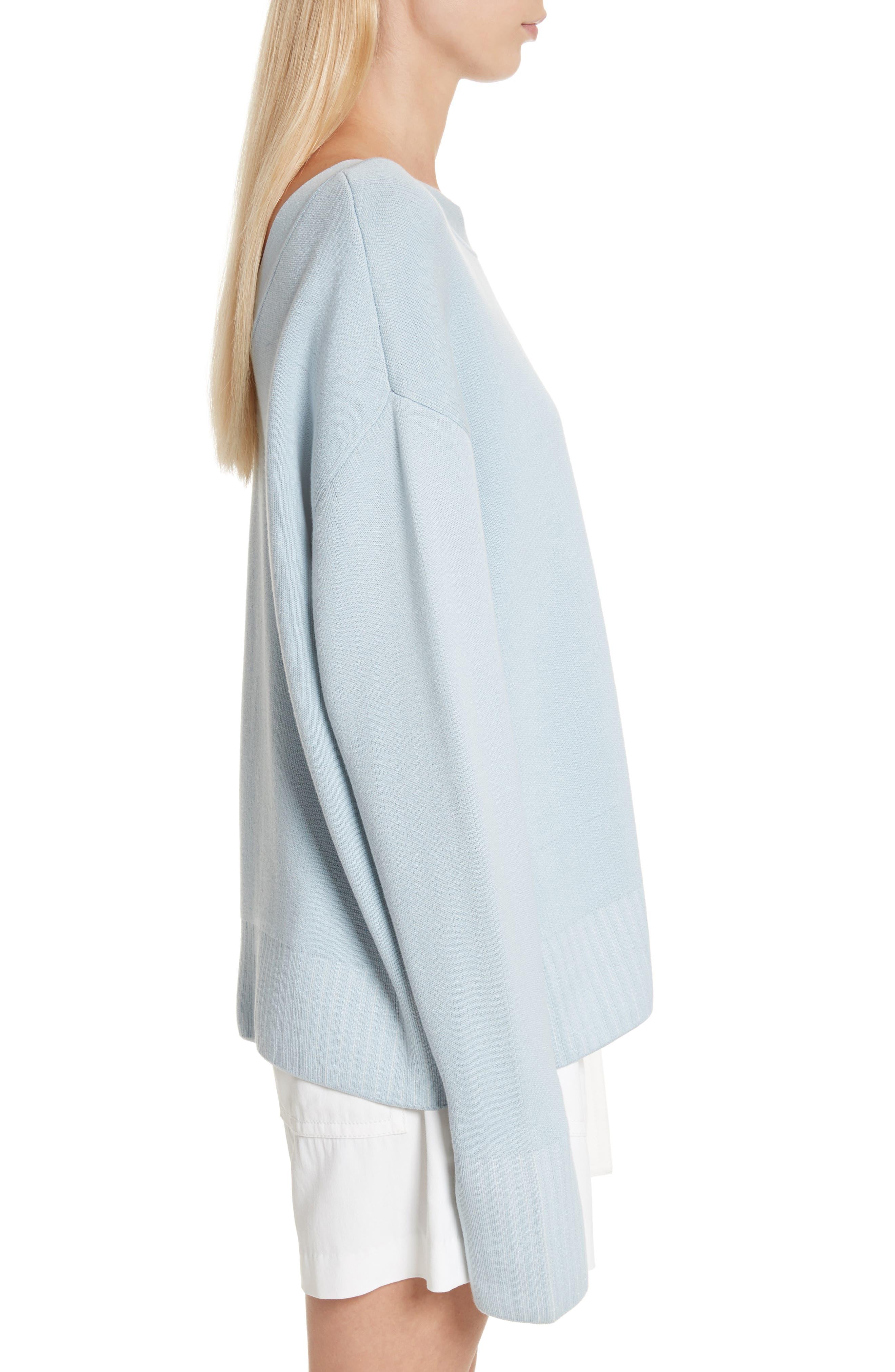 Silk & Cotton Blend Sweater,                             Alternate thumbnail 3, color,                             450