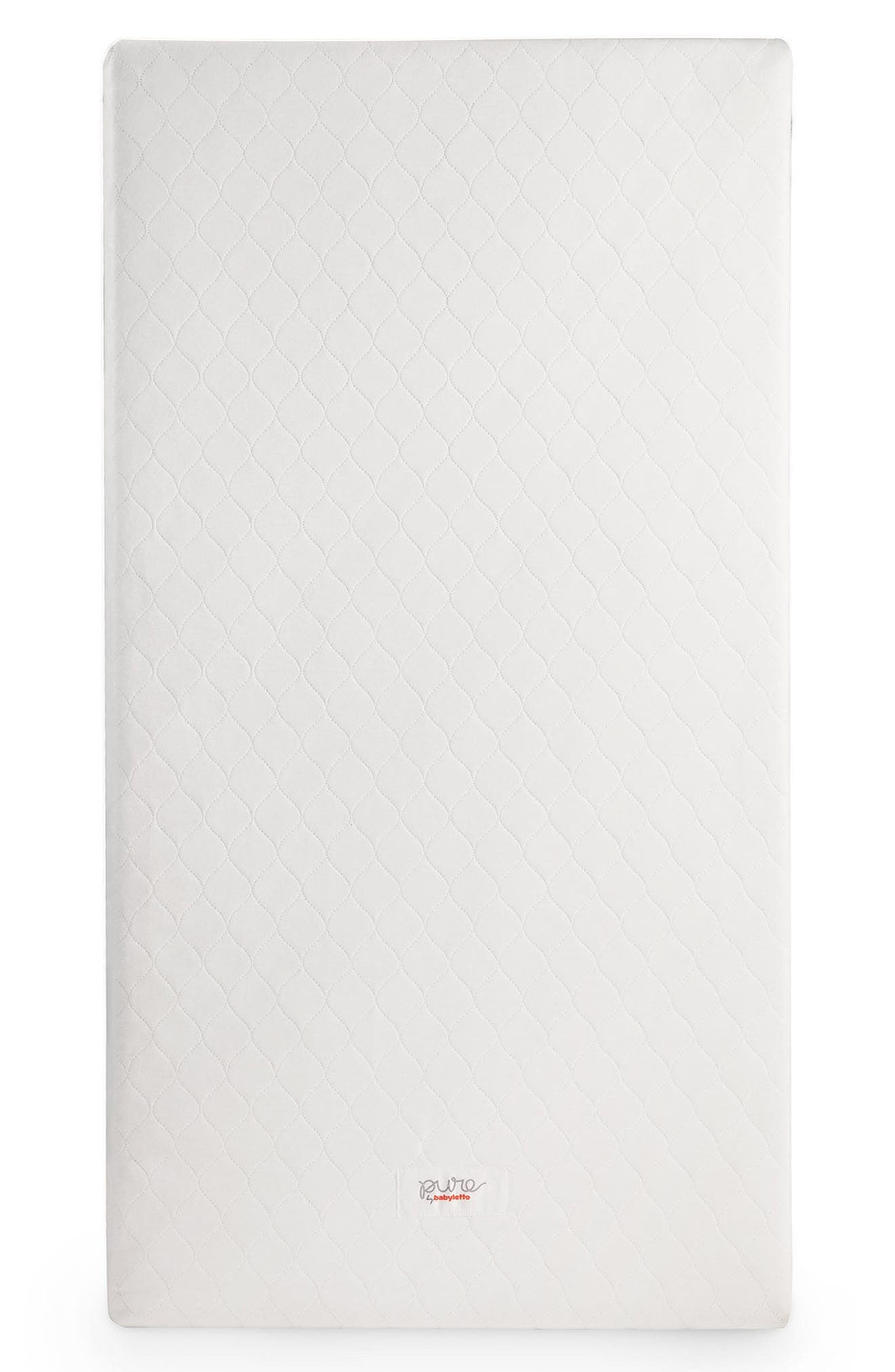 Pure Core Crib Mattress & Cover,                             Alternate thumbnail 2, color,                             WHITE