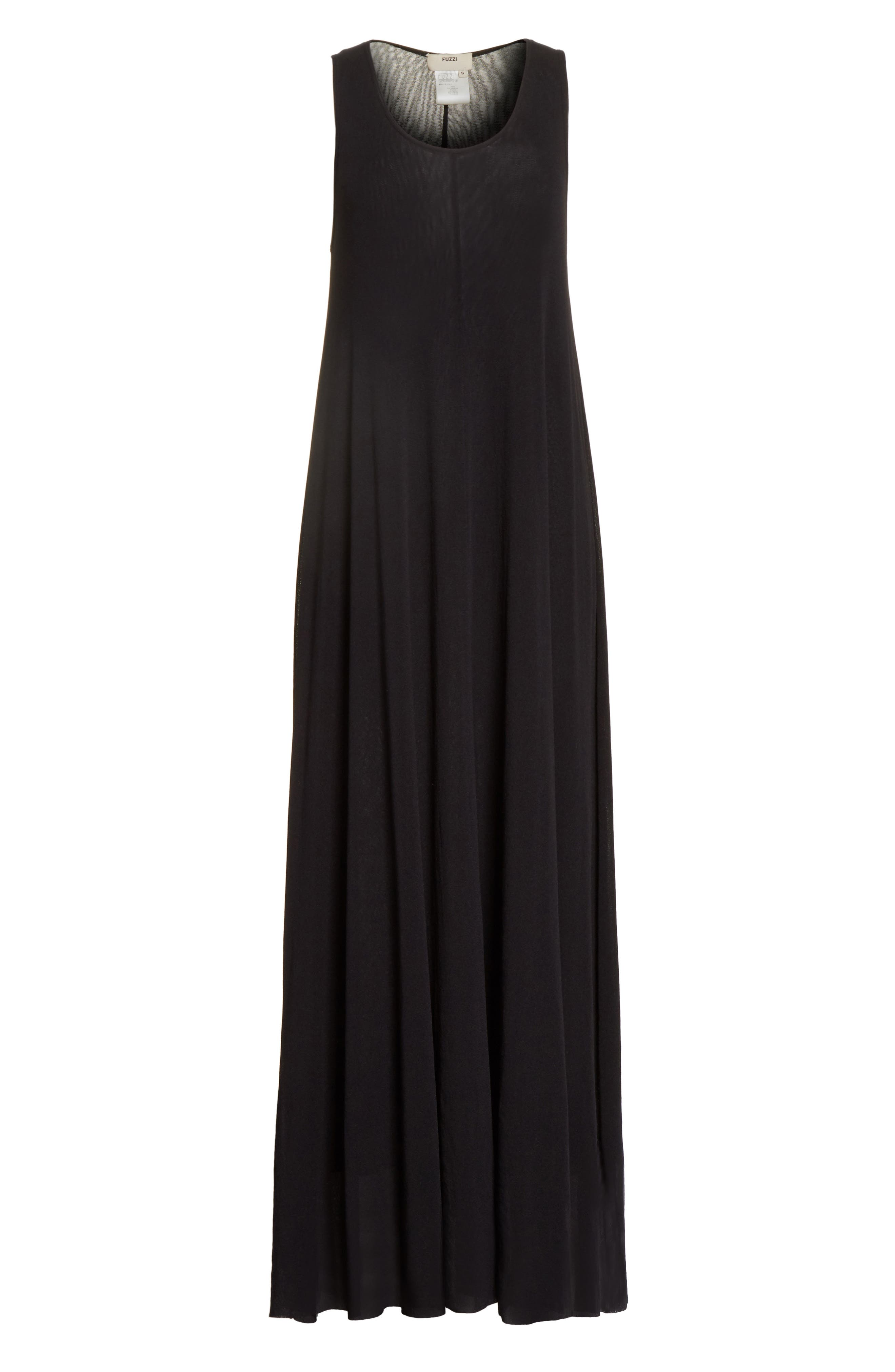 Belted Tulle Maxi Dress,                             Alternate thumbnail 11, color,