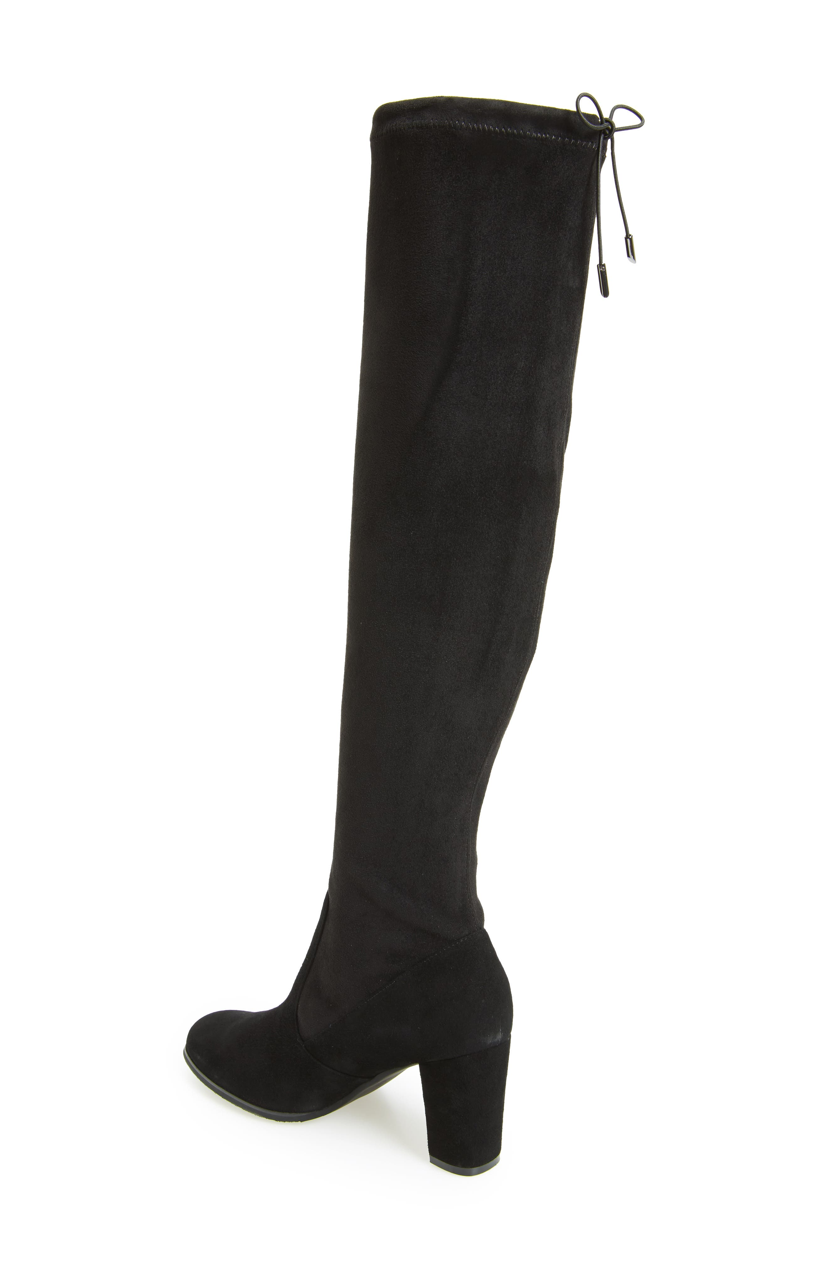 Kali Waterproof Over the Knee Boot,                             Alternate thumbnail 2, color,                             BLACK SUEDE