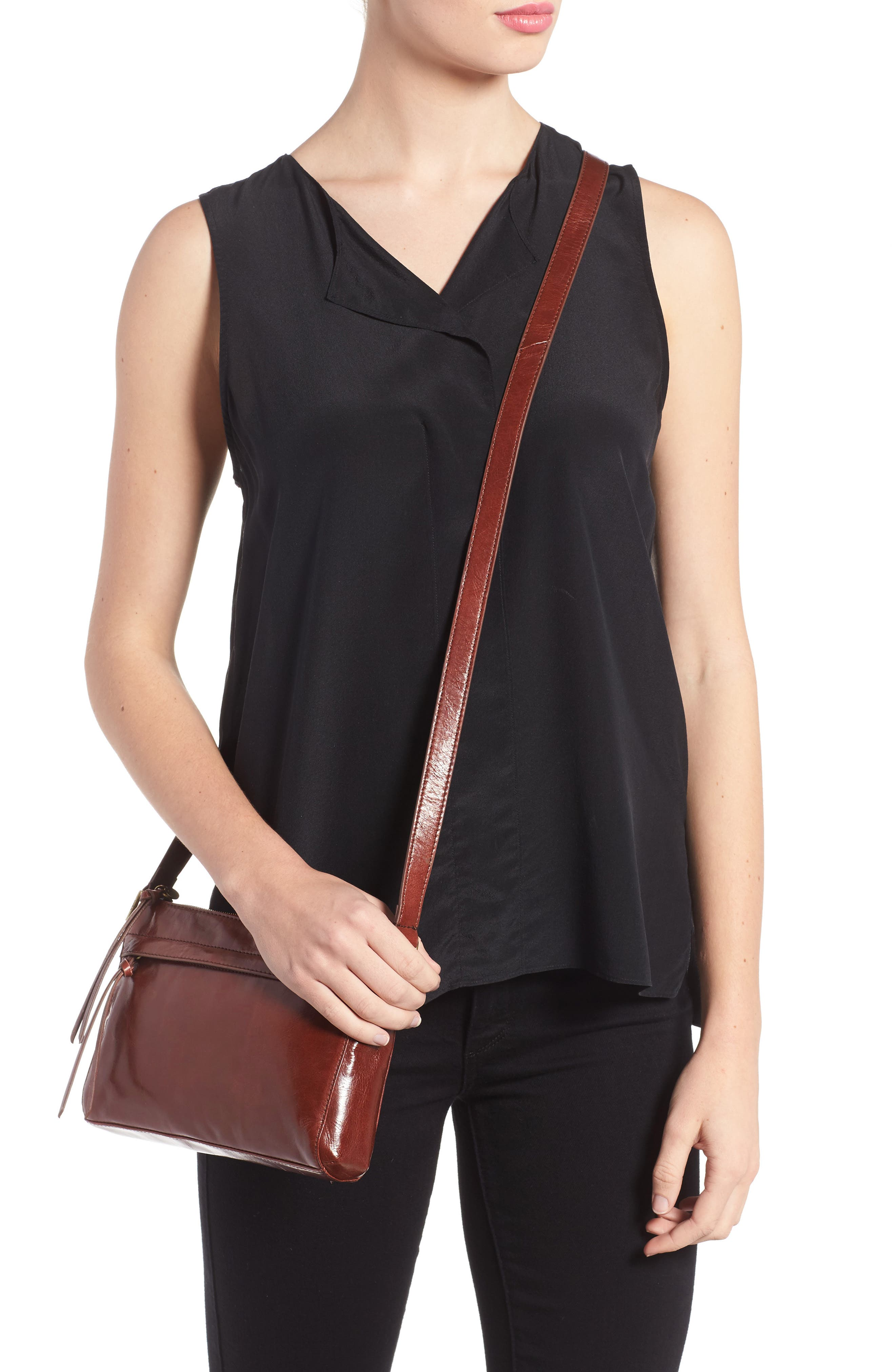 Tobey Leather Crossbody Bag,                             Alternate thumbnail 22, color,