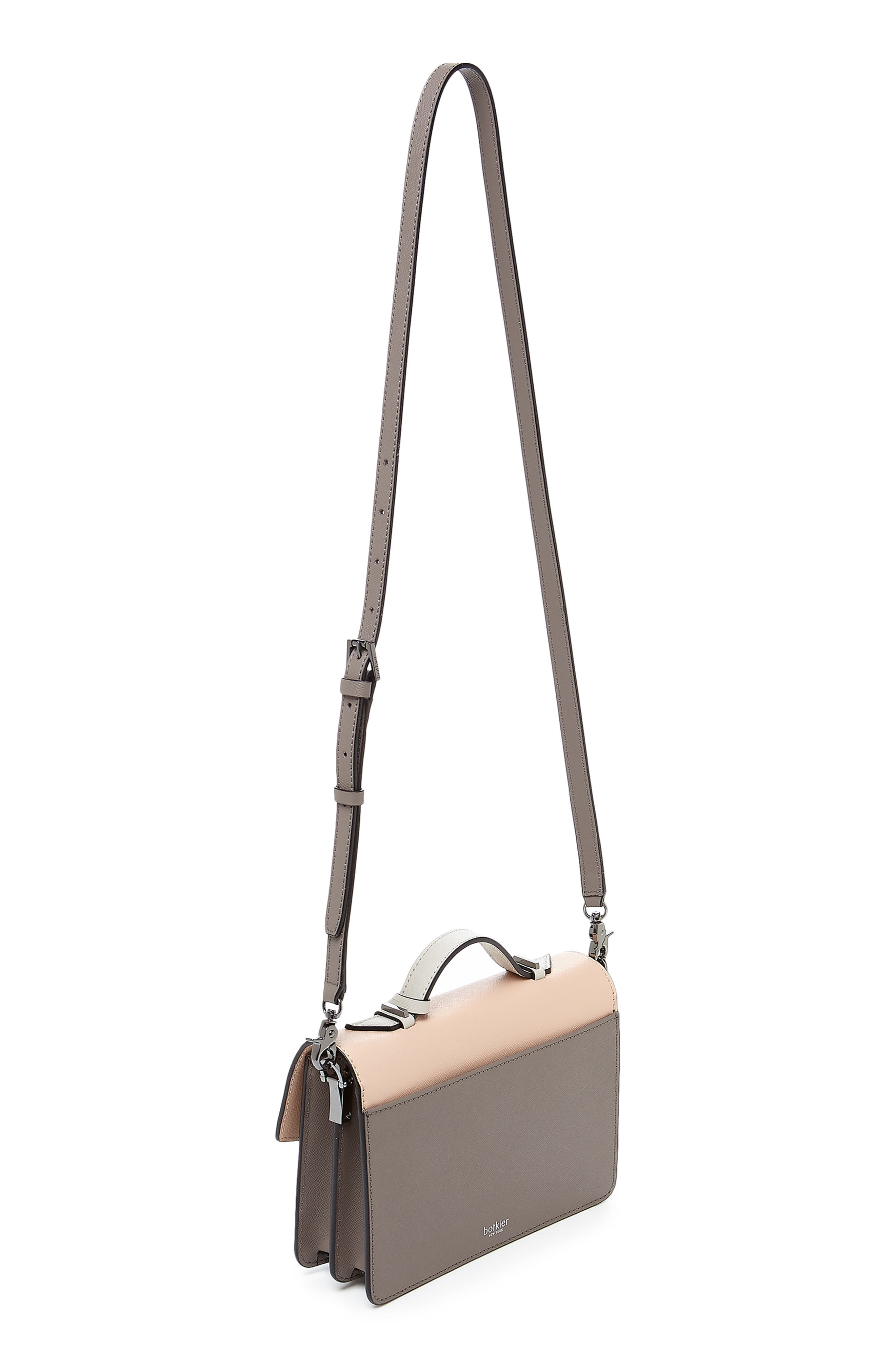 Cobble Hill Calfskin Leather Crossbody Bag,                             Alternate thumbnail 2, color,                             NUDE COMBO