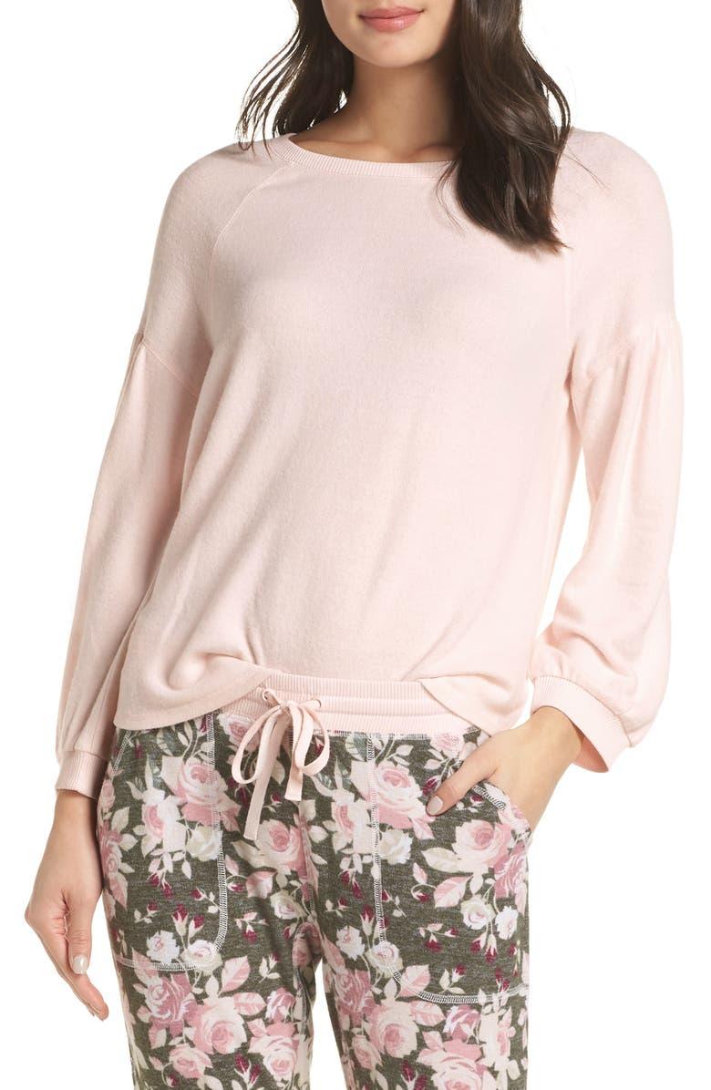 Splendid Full Sleeve Pajama Top In Ballerina Pink