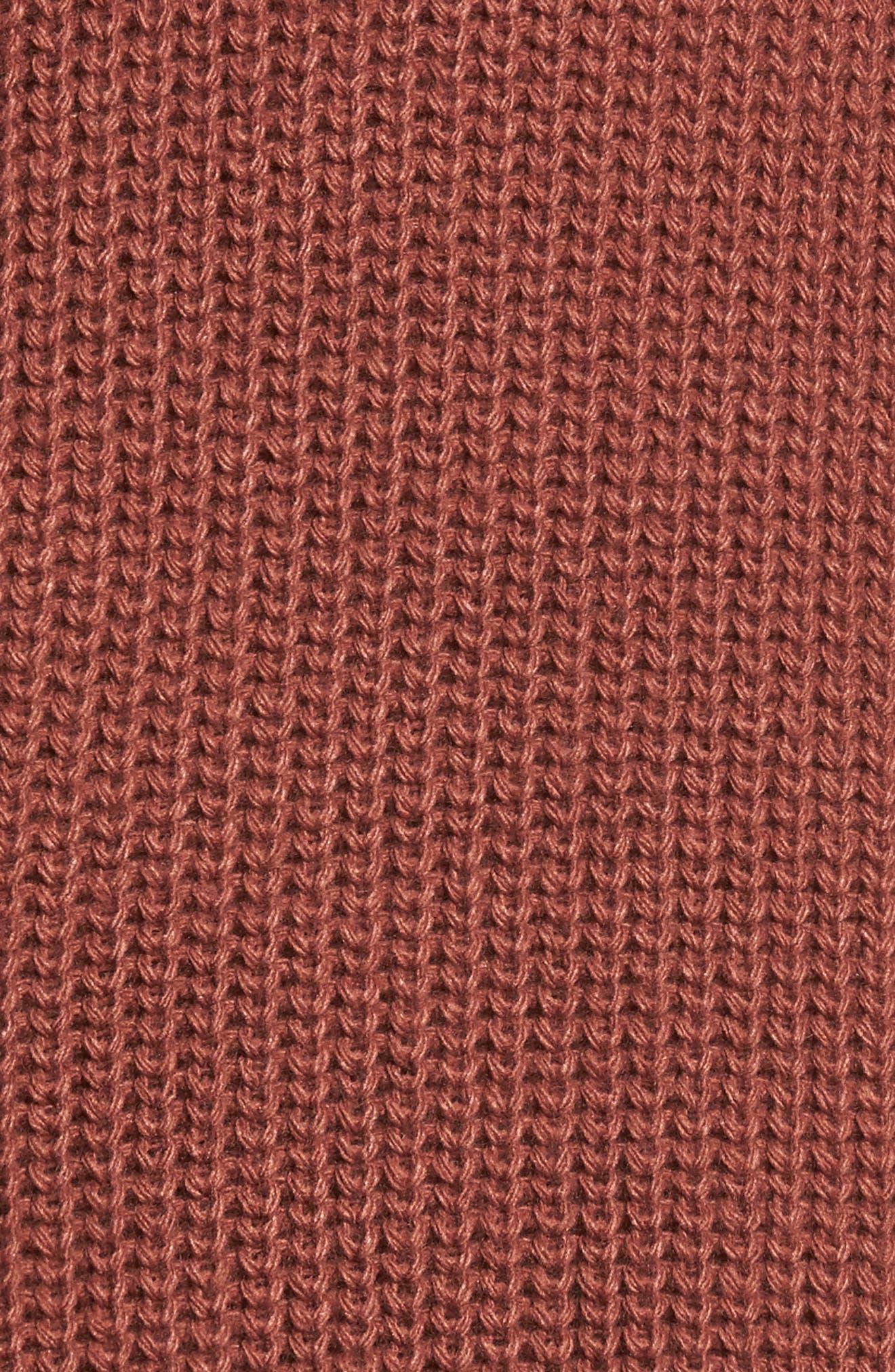 Foldover Off the Shoulder Sweater Dress,                             Alternate thumbnail 19, color,