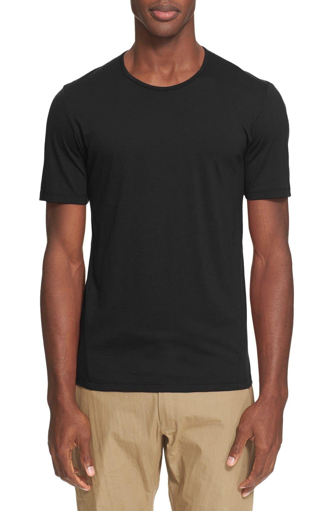 ARC'TERYX VEILANCE 'Frame' Merino Wool T-Shirt, Main, color, 001