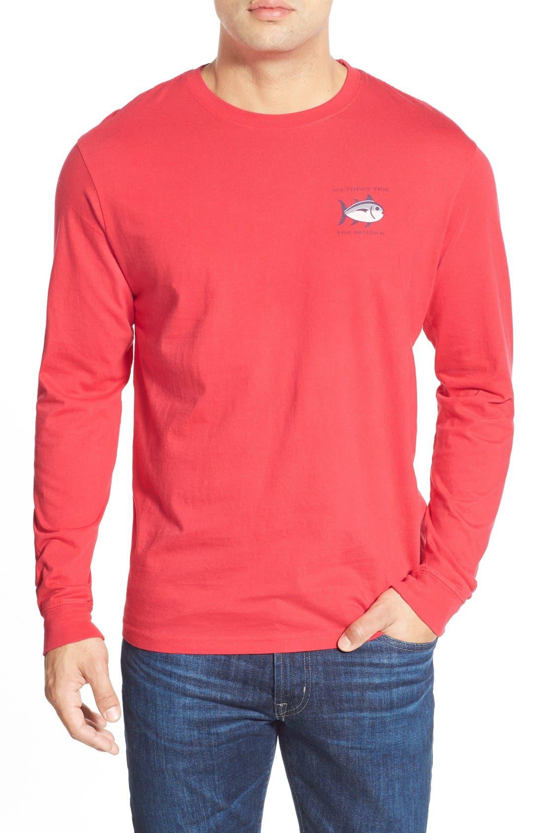 'Skipjack'Long Sleeve Graphic T-Shirt,                             Alternate thumbnail 54, color,