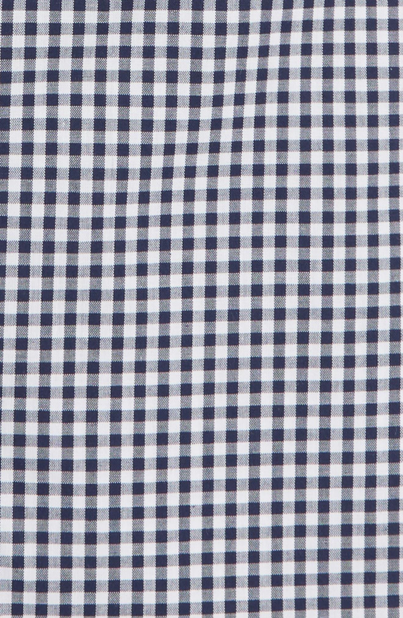 Trim Fit Check Dress Shirt,                             Alternate thumbnail 6, color,                             410