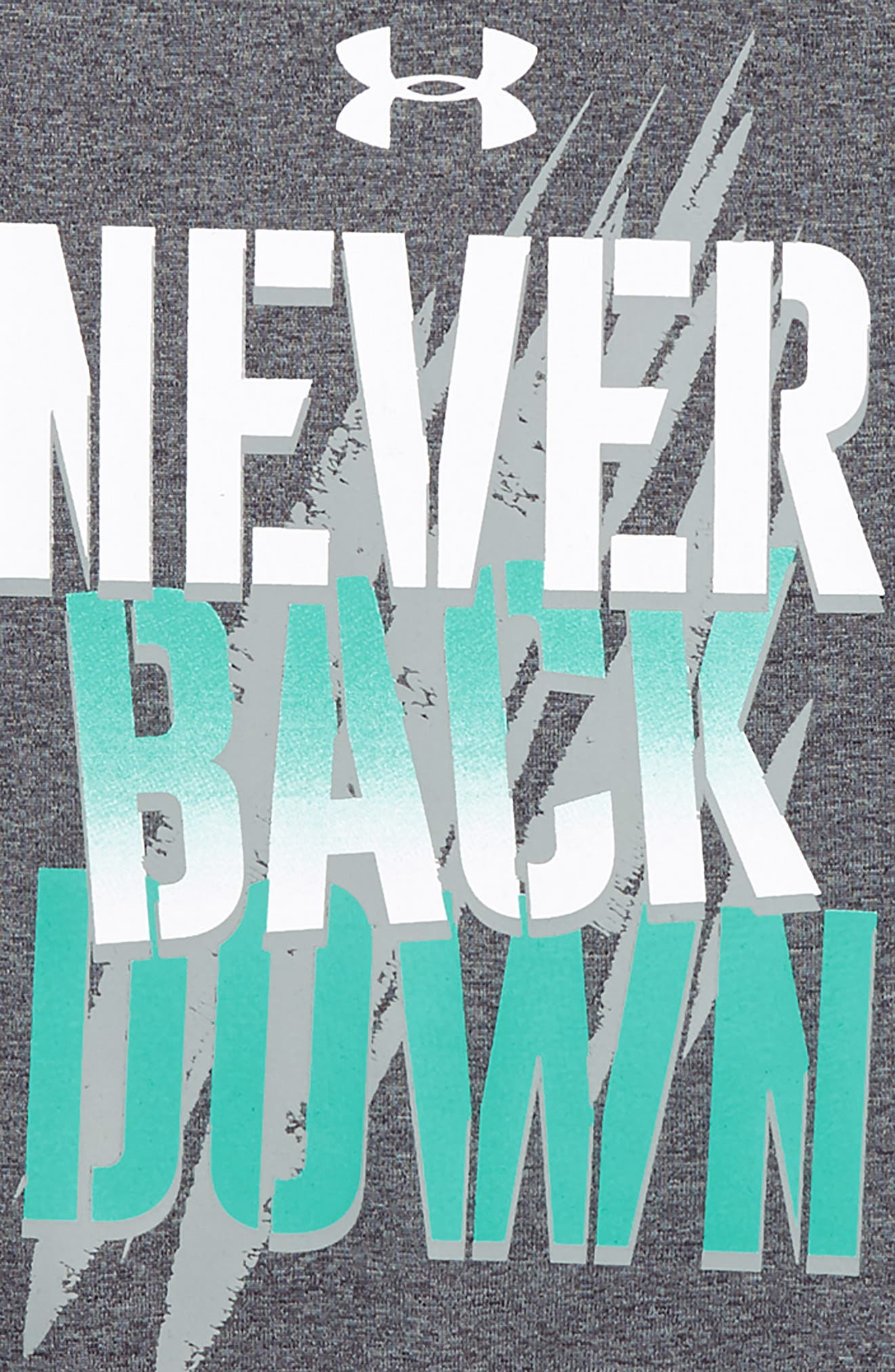 Never Back Down HeatGear<sup>®</sup> T-Shirt,                             Alternate thumbnail 2, color,