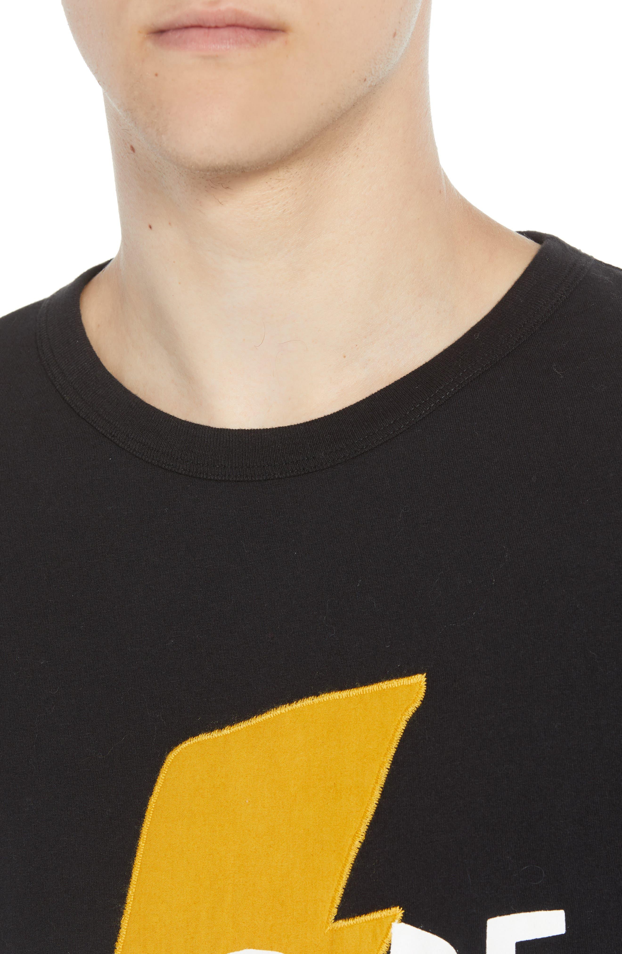 Love Struck T-Shirt,                             Alternate thumbnail 4, color,                             BLACK CALLUNA YELLOW WHITE