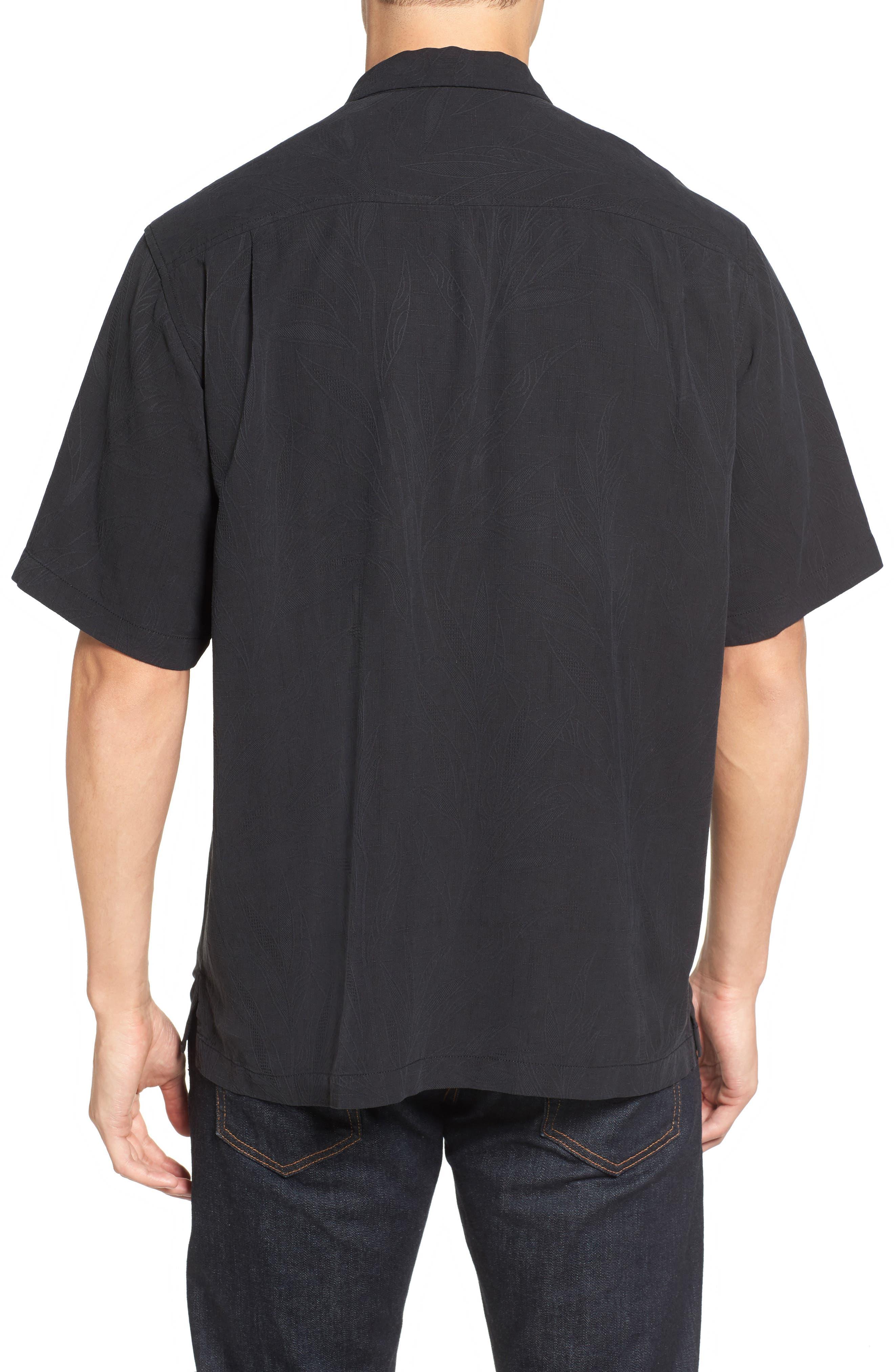 Islander Fronds Silk Camp Shirt,                             Alternate thumbnail 2, color,                             001
