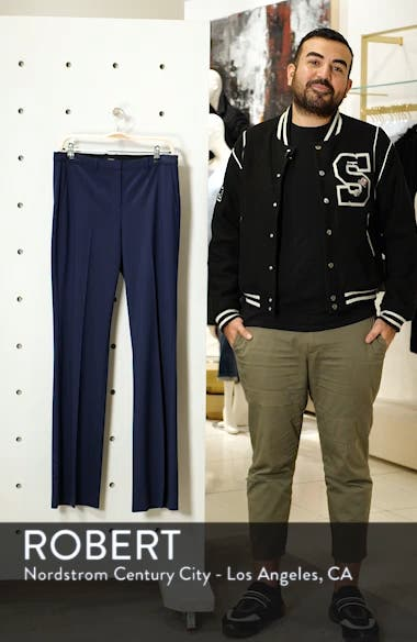 Demitria 2 Stretch Wool Suit Pants, sales video thumbnail