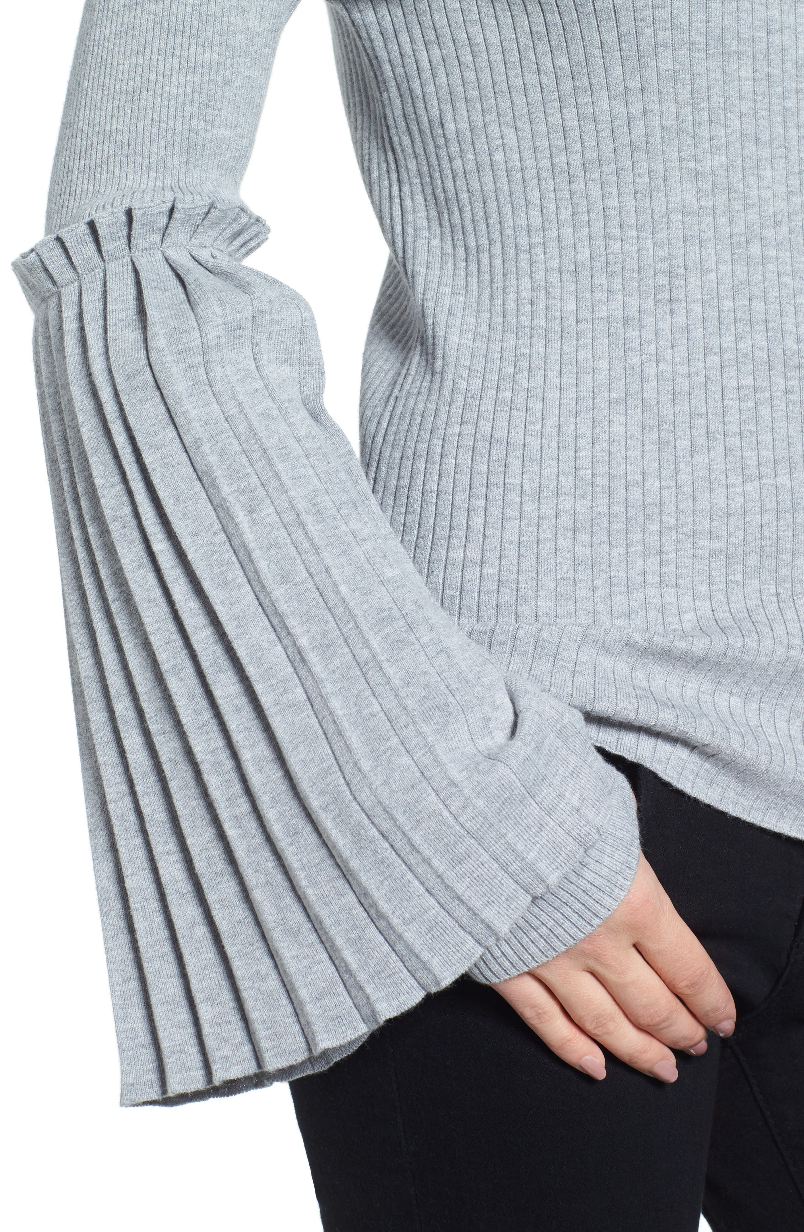 Bell Sleeve Sweater,                             Alternate thumbnail 4, color,                             050
