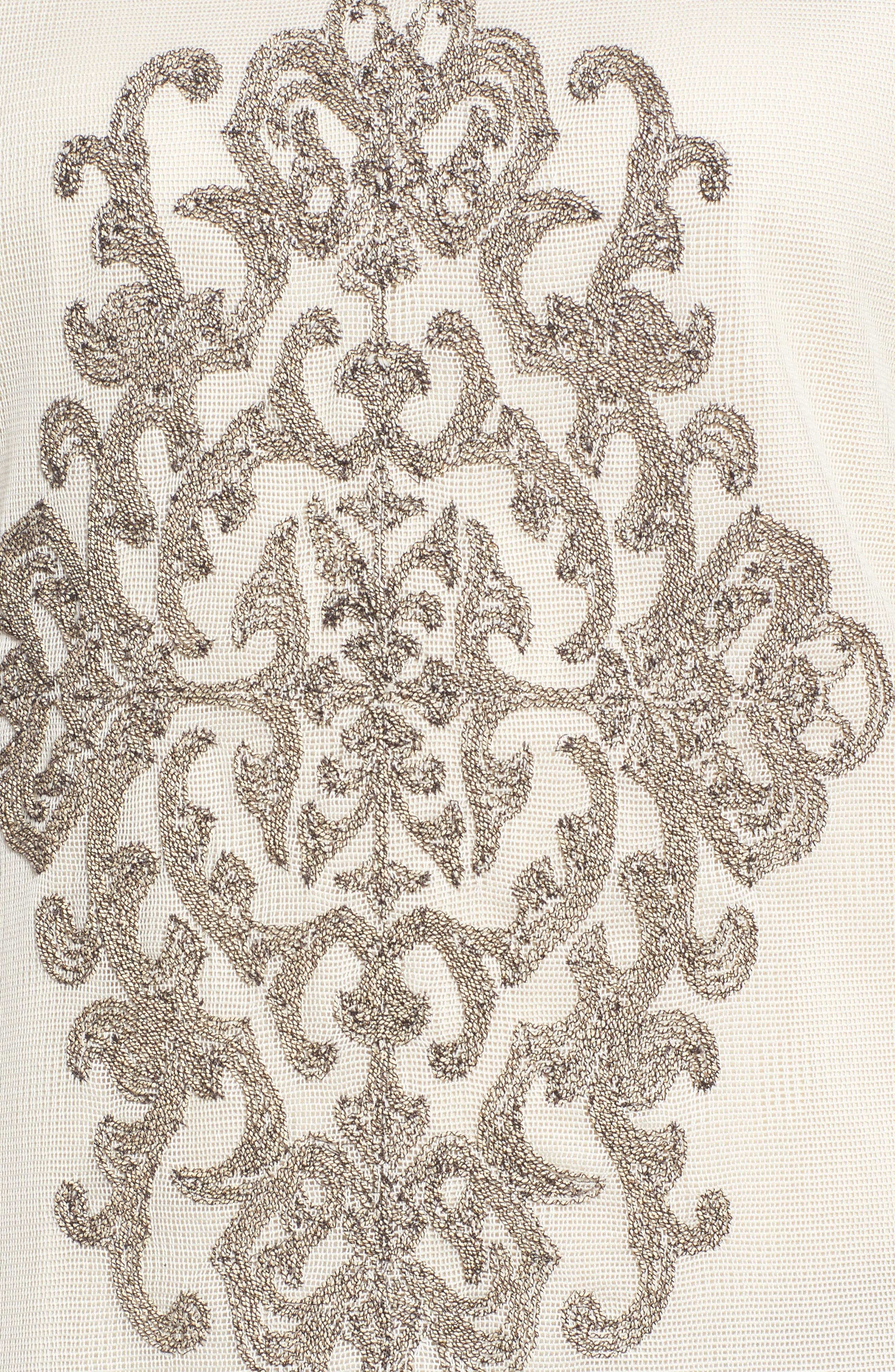 Embroidered Mesh Front Top,                             Alternate thumbnail 5, color,                             279