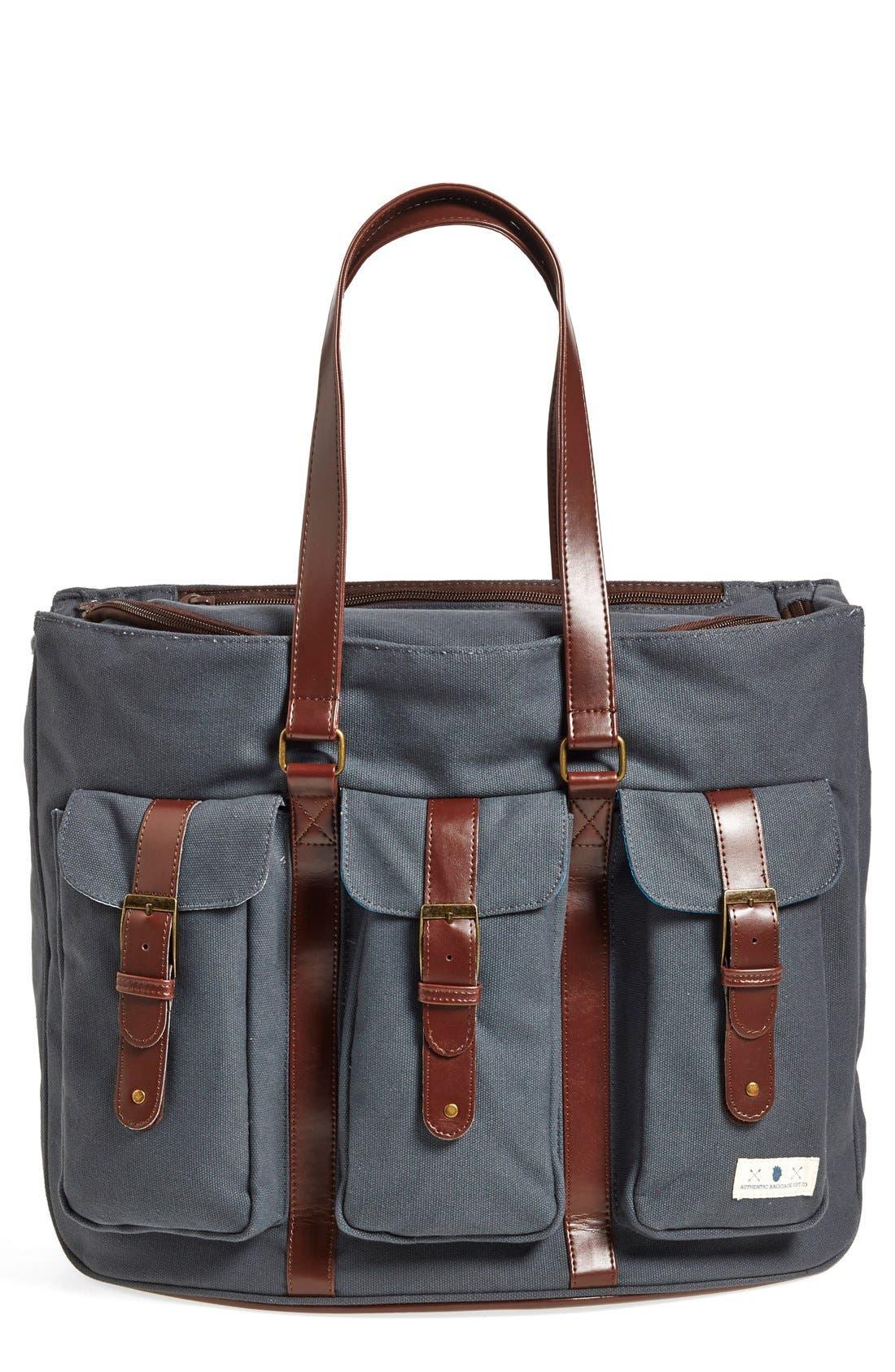 Convertible Canvas Diaper Bag,                         Main,                         color, 020