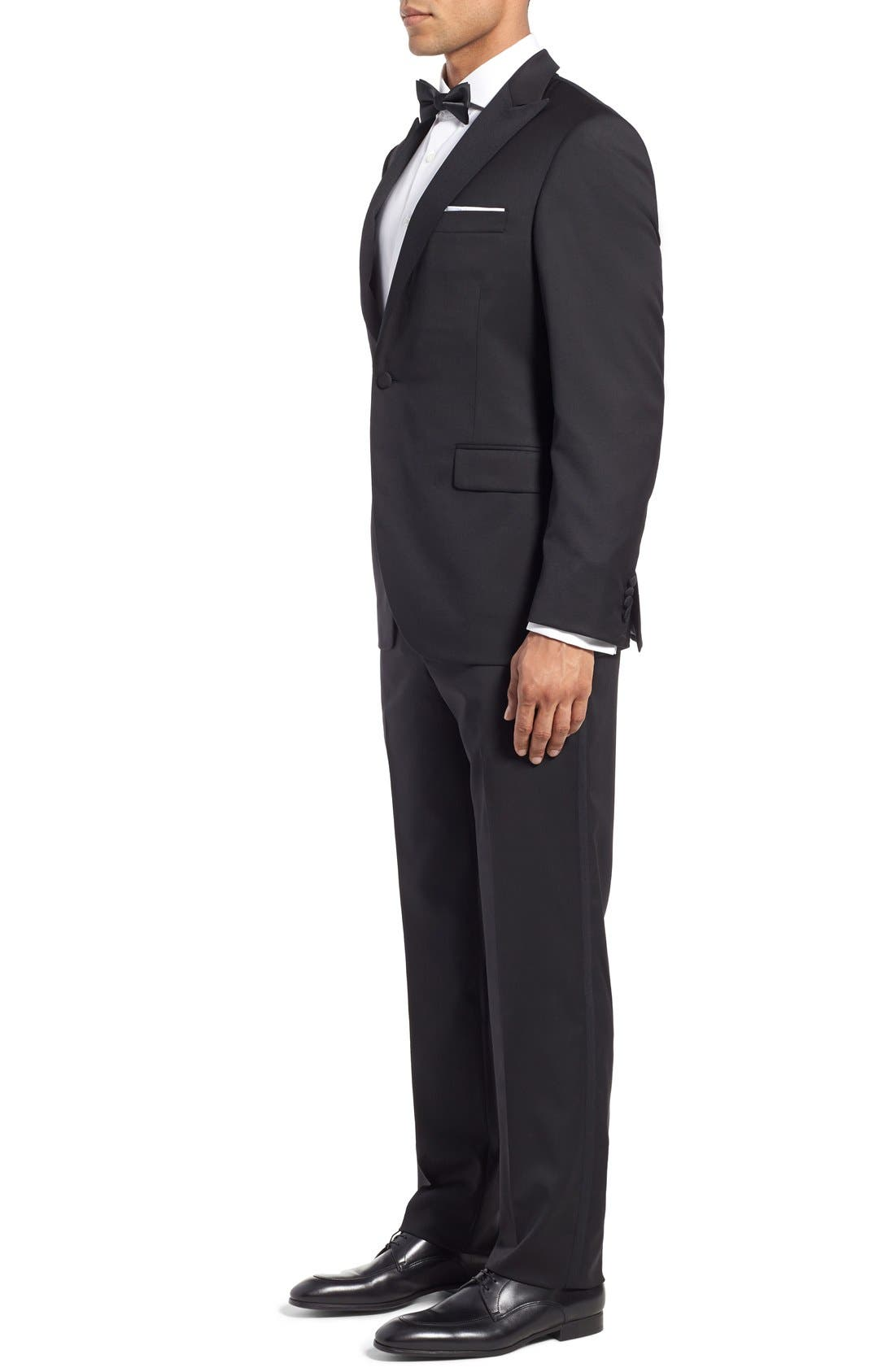 Classic Fit Wool Tuxedo,                             Alternate thumbnail 3, color,                             001