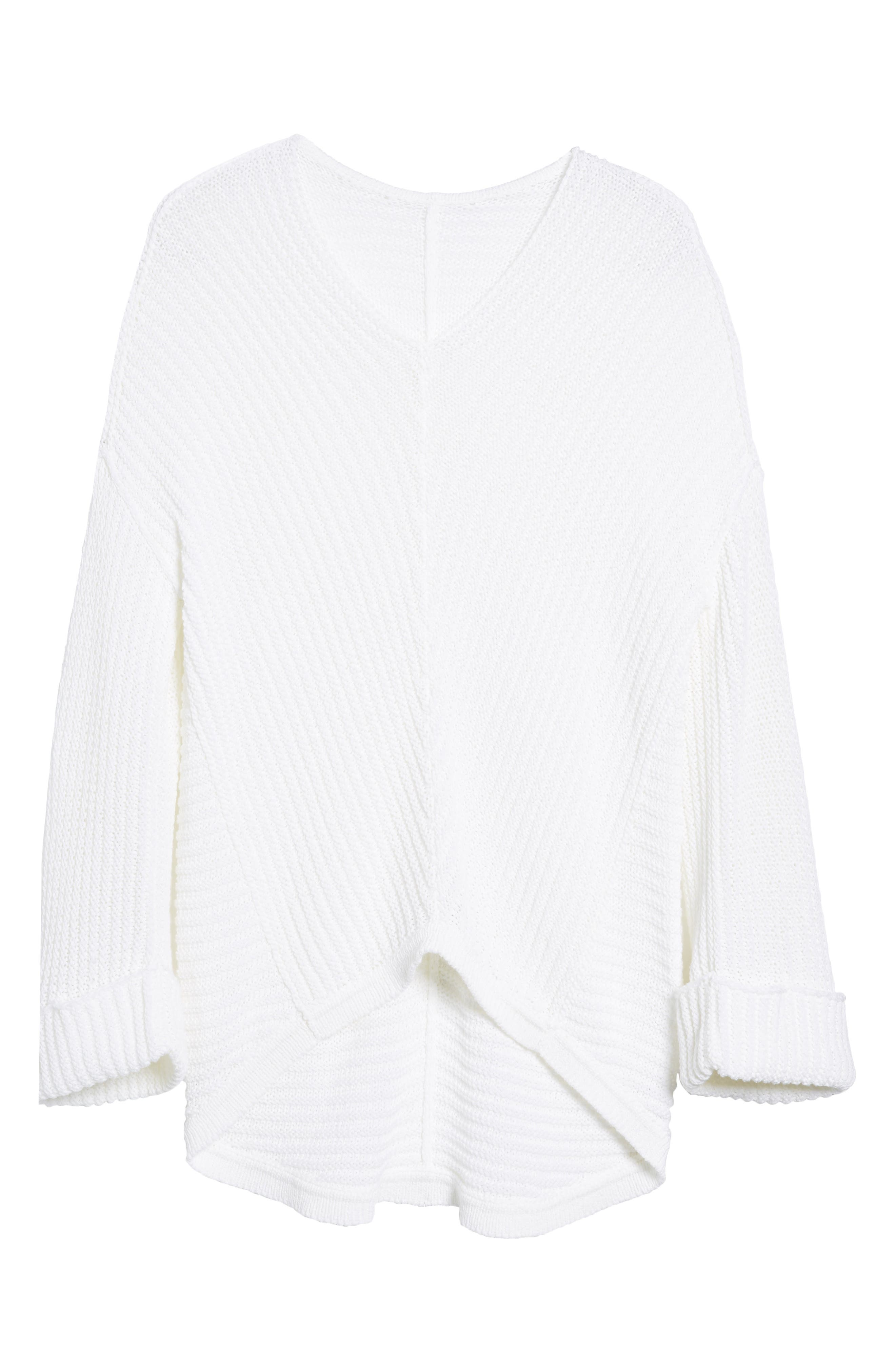 Cuffed Sleeve Sweater,                             Alternate thumbnail 24, color,