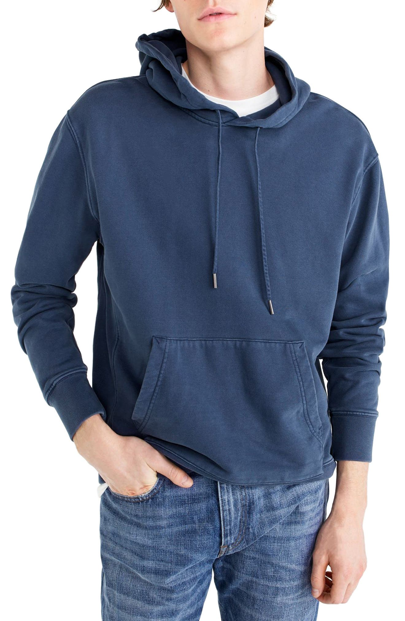 Garment Dyed French Terry Hoodie,                             Main thumbnail 3, color,