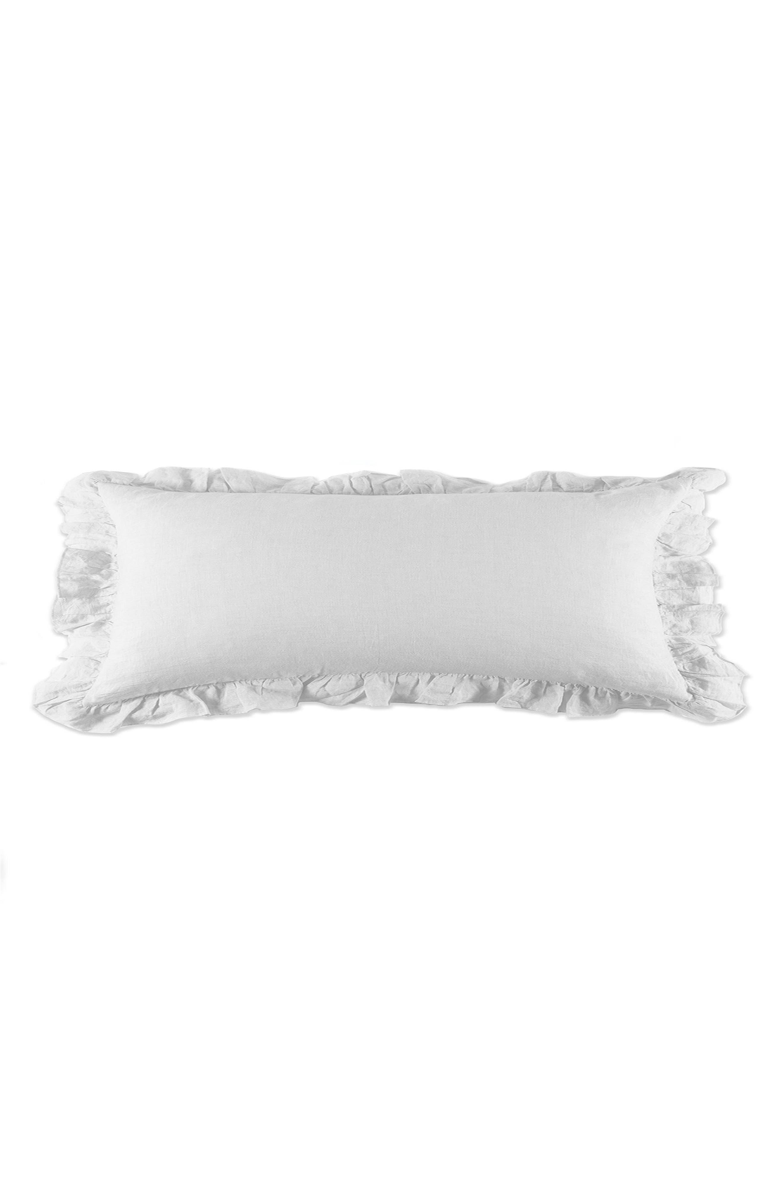 Charlie Body Pillow,                             Main thumbnail 1, color,                             WHITE