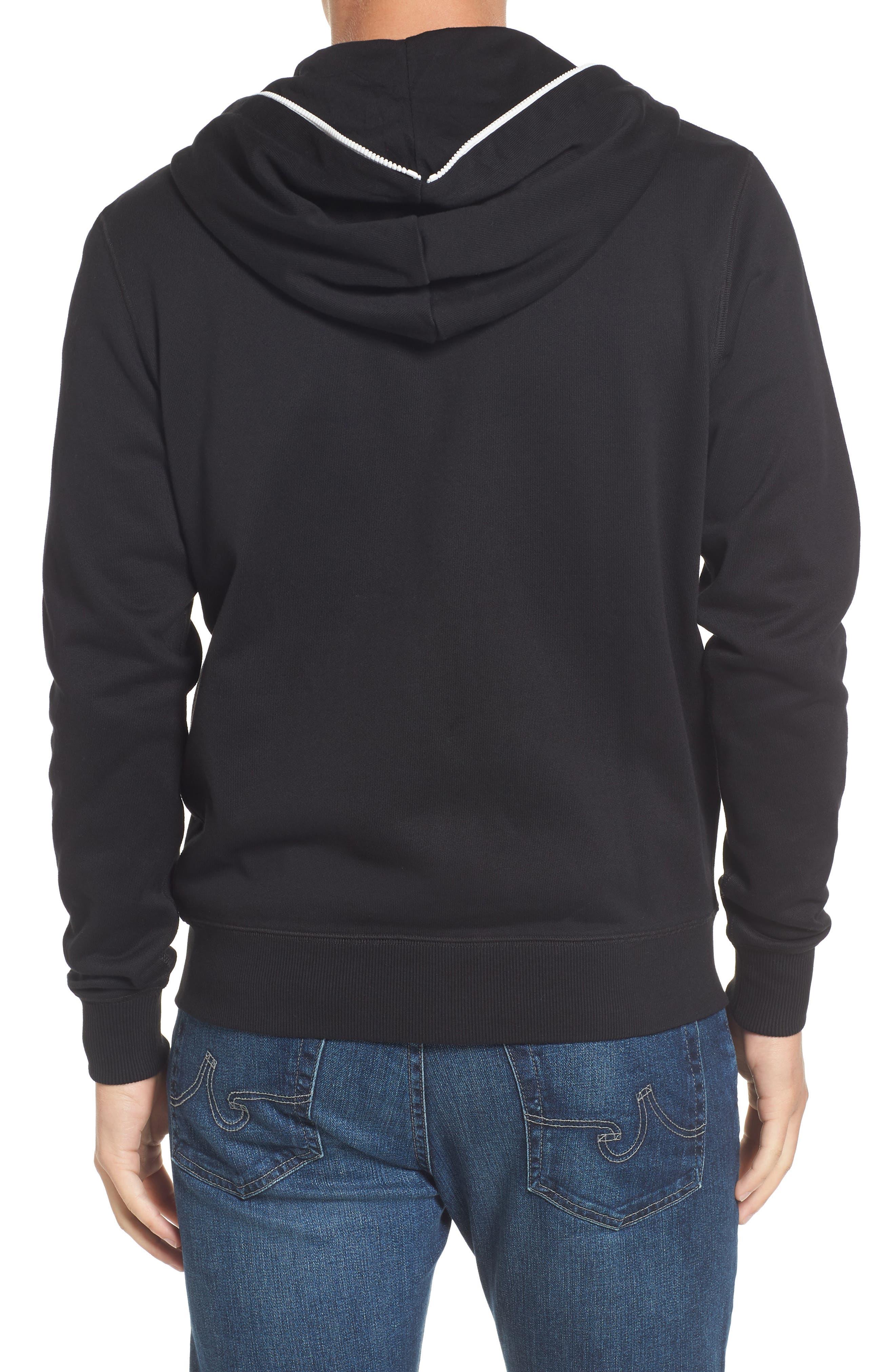 Fleece Zip Sweatshirt,                             Alternate thumbnail 2, color,                             001
