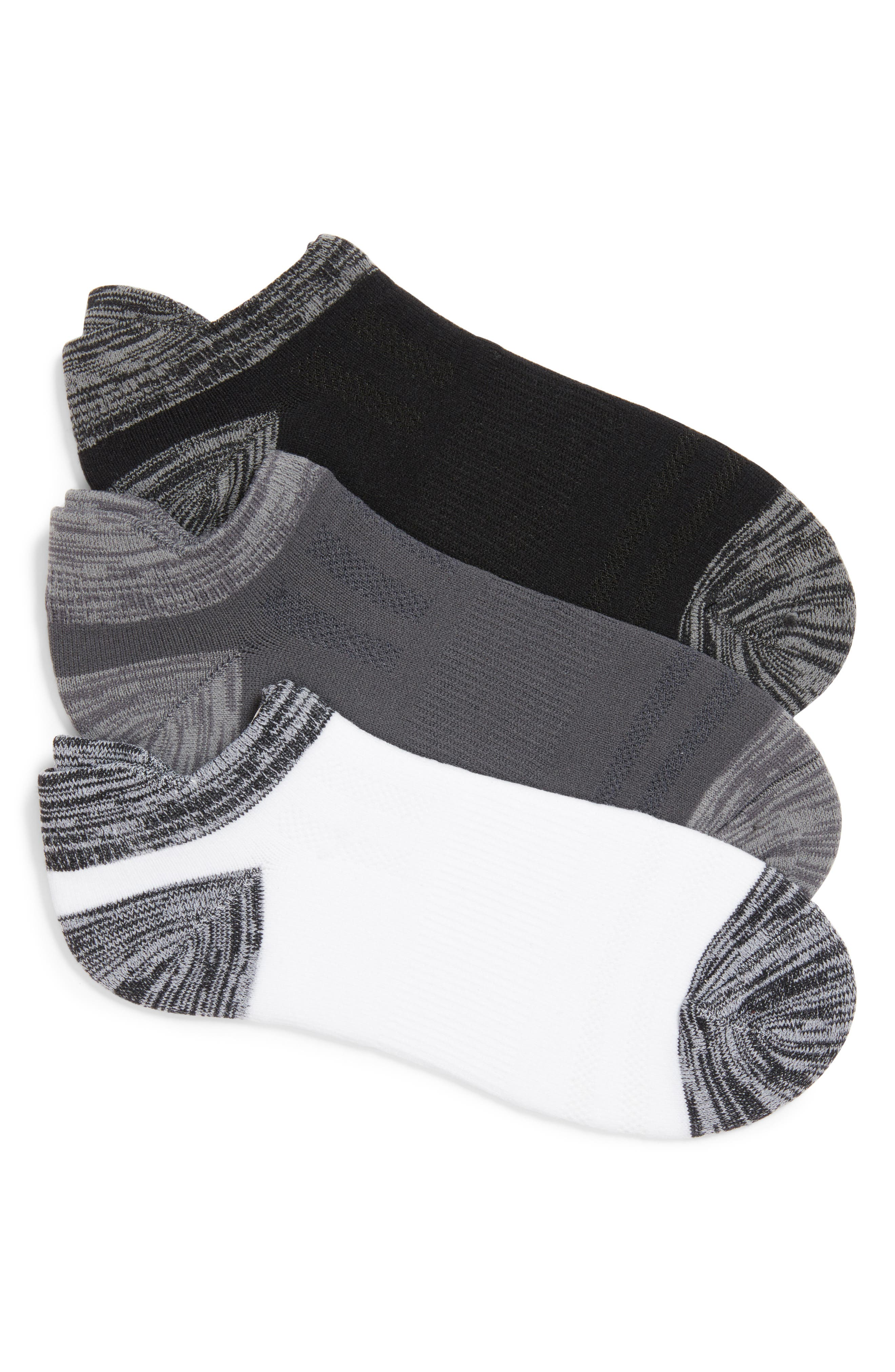 3-Pack Low Cut Socks,                             Main thumbnail 1, color,                             002