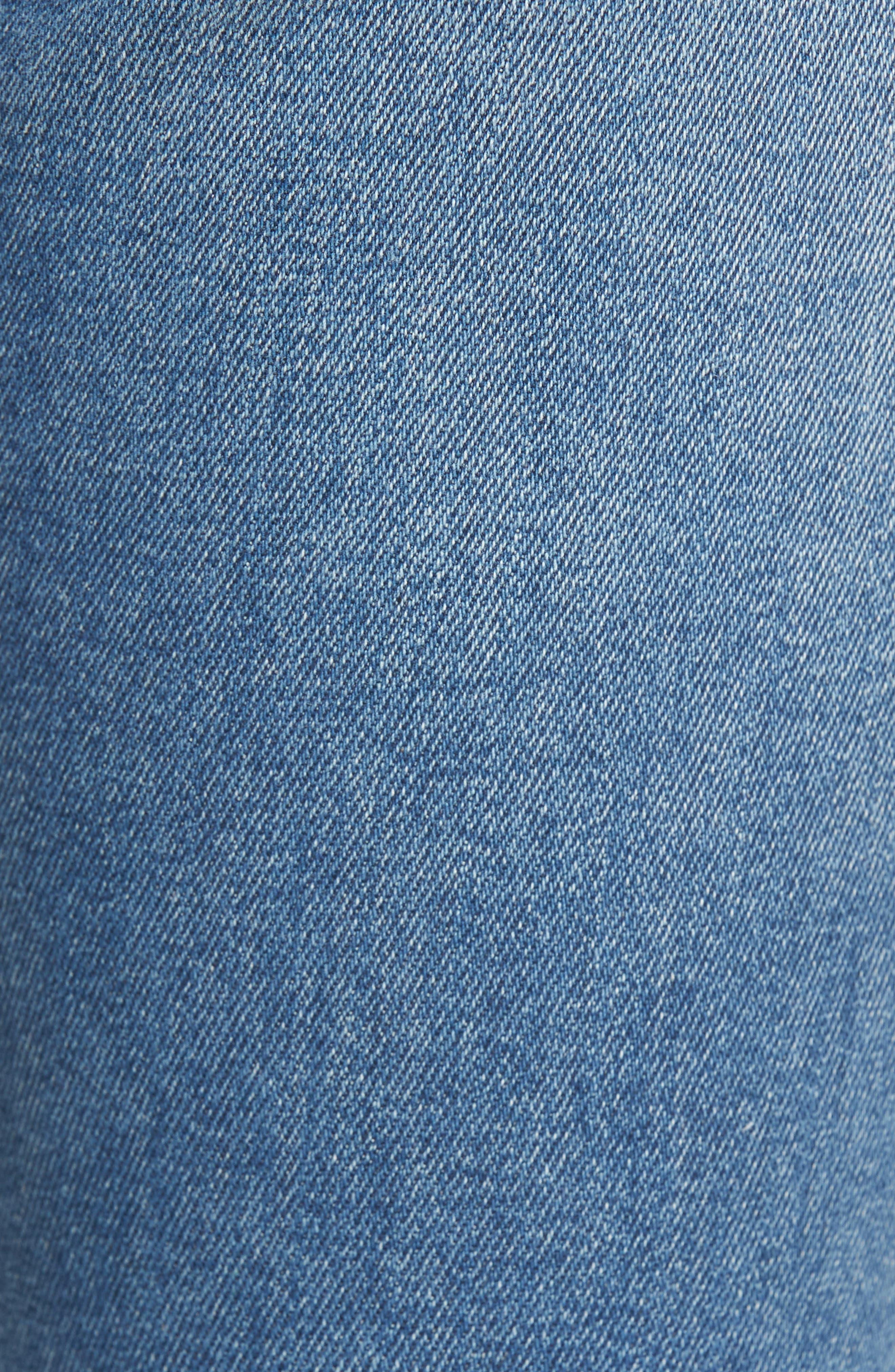 Marley Raw Hem Super Skinny Jeans,                             Alternate thumbnail 6, color,                             461